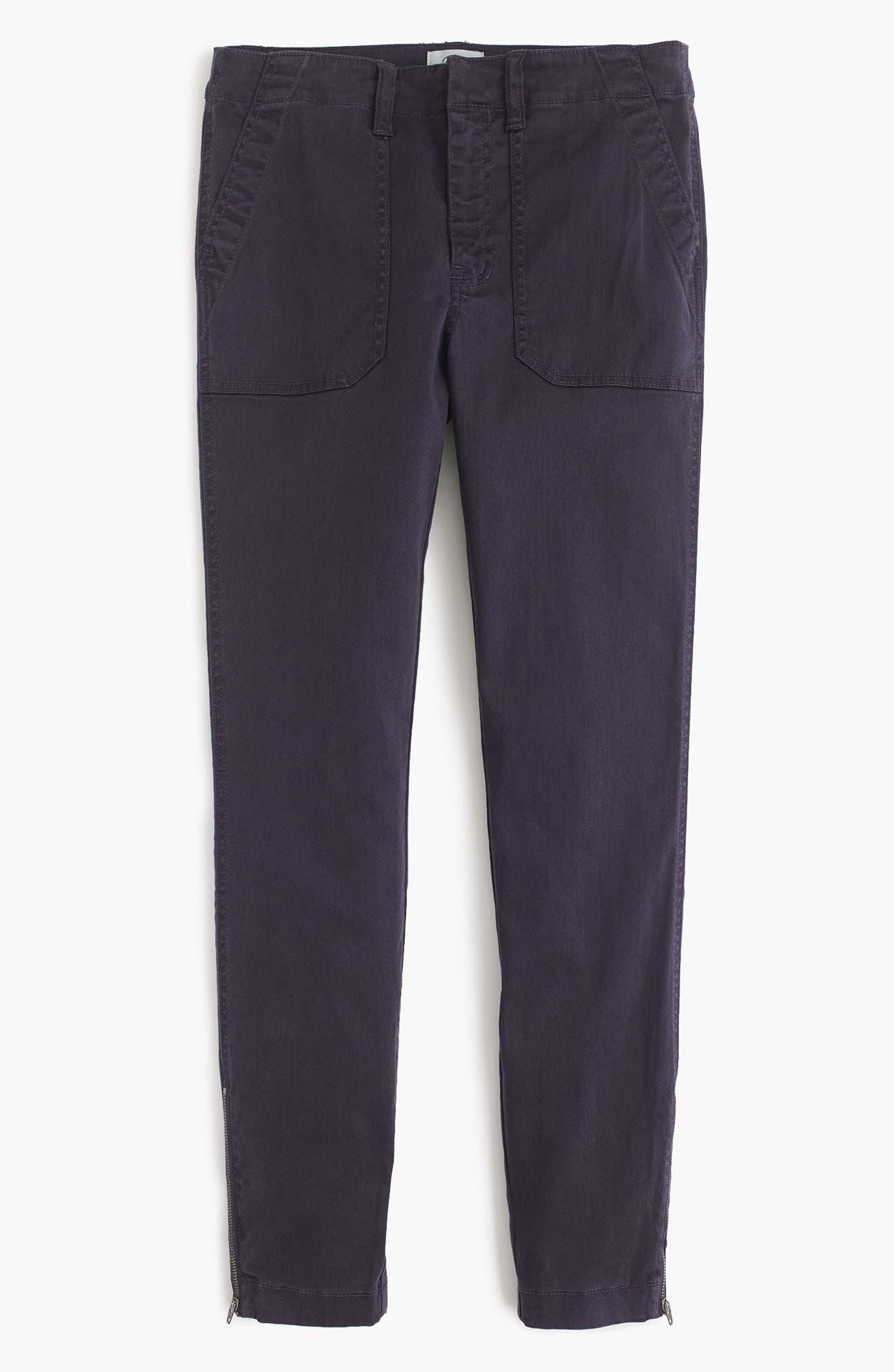 J.Crew Zip Ankle Stretch Skinny Cargo Pants (Regular & Petite)