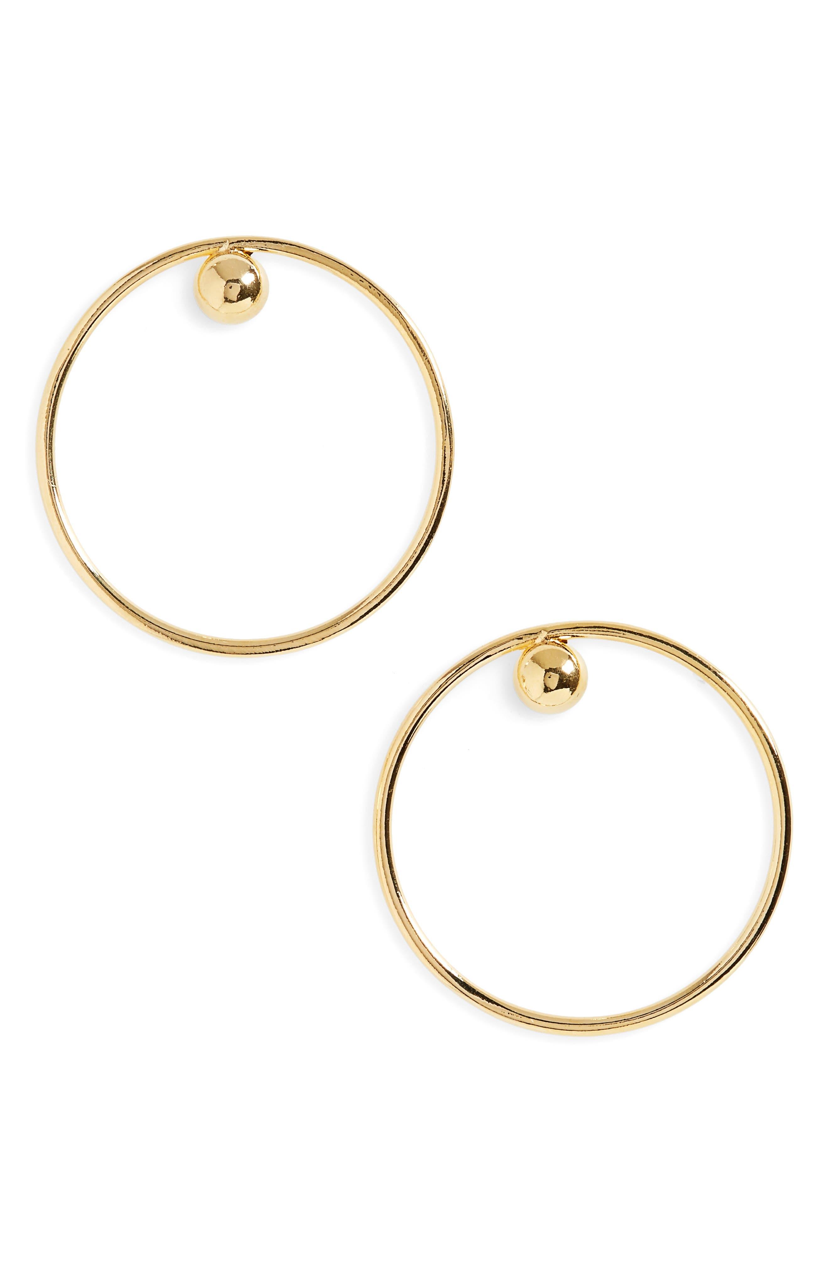 Main Image - BIKO Dot Frontal Hoop Earrings