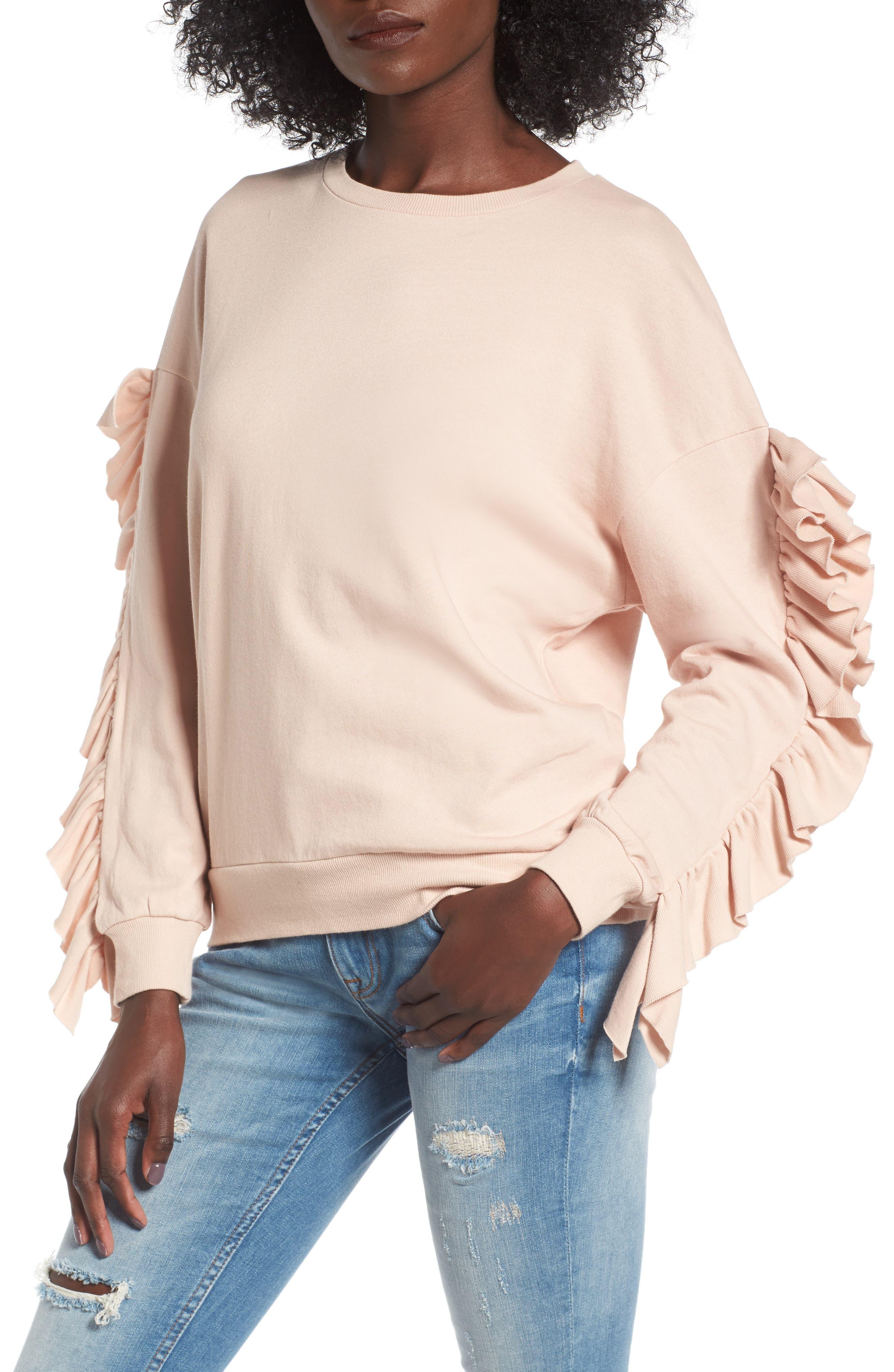 BP. Ruffle Sleeve Sweatshirt