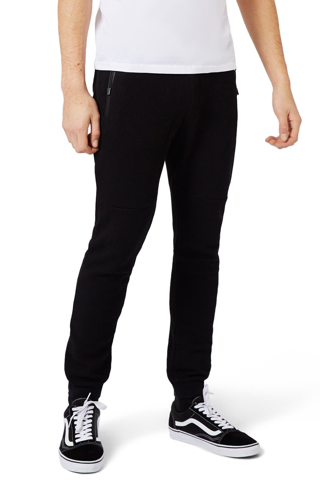 Topman Piqué Knit Jogger Pants