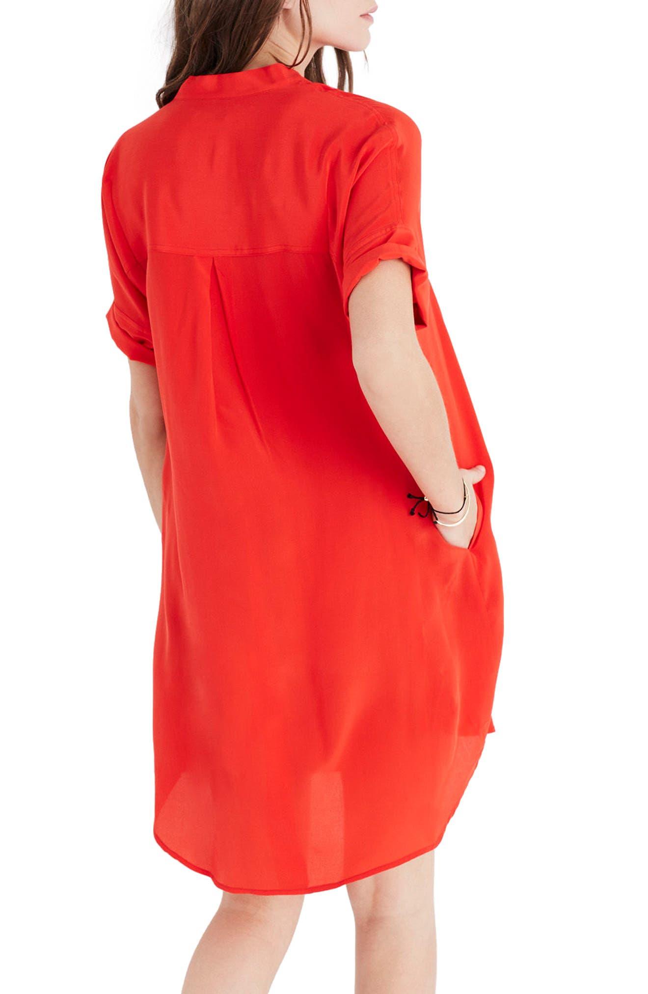 Alternate Image 2  - Madewell Button Down Silk Shirtdress