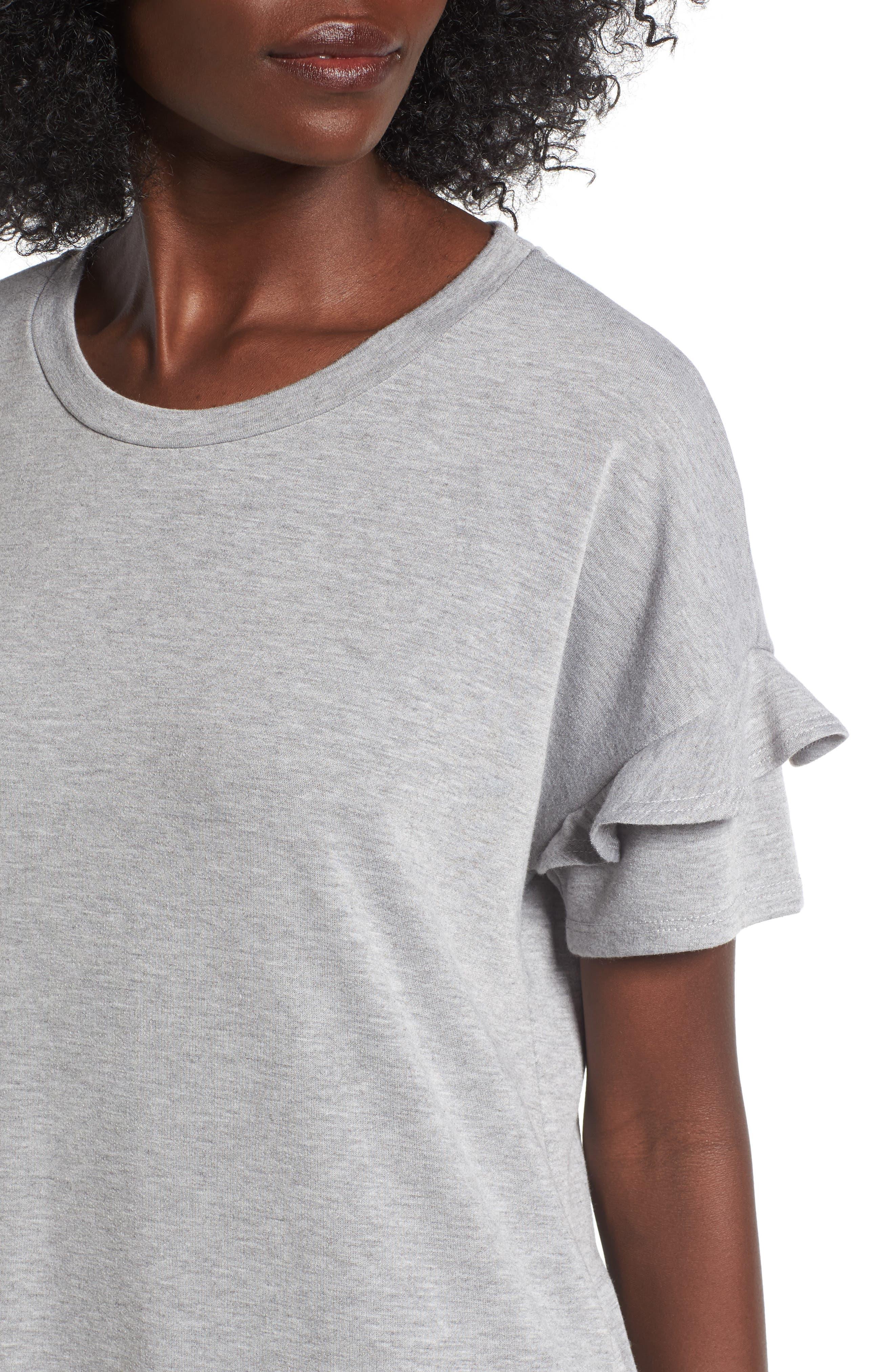 Alternate Image 4  - Lush Ruffle Sleeve T-Shirt Dress