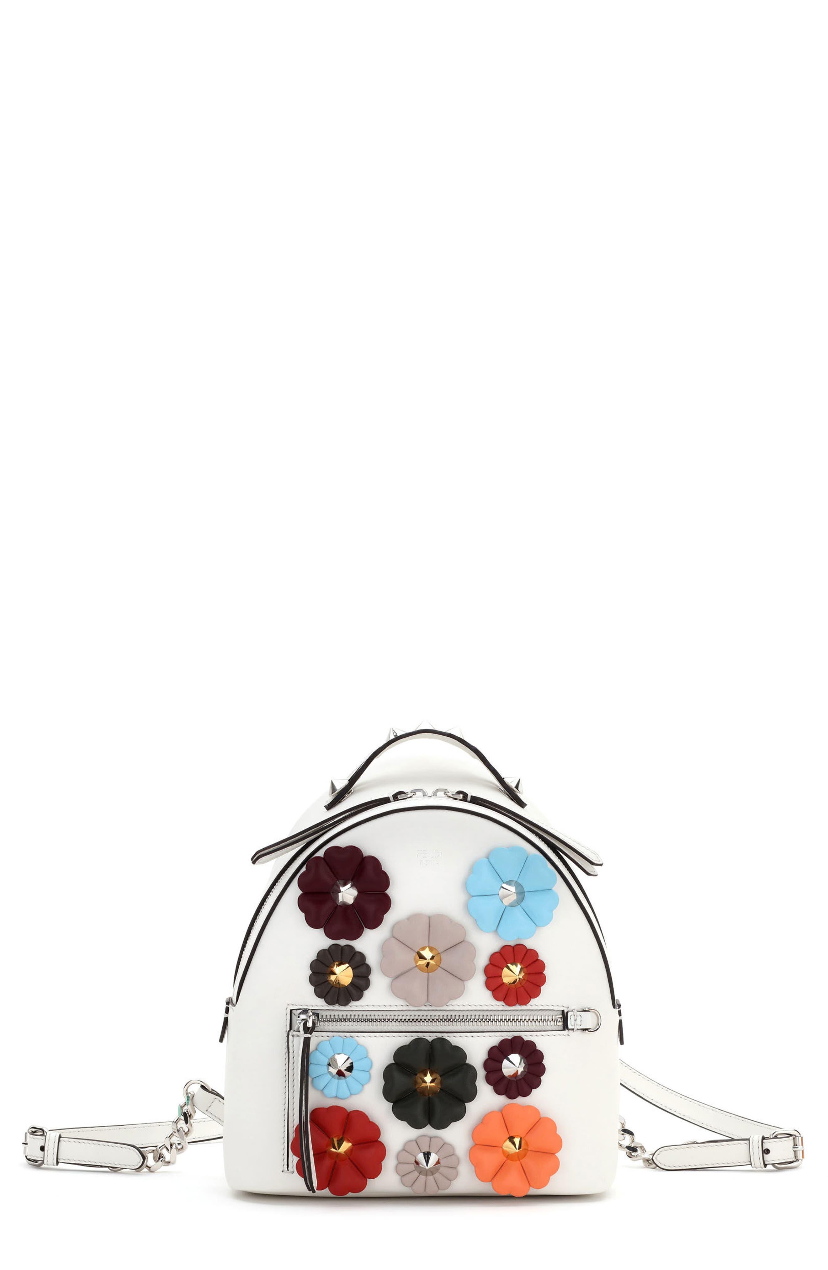 Fendi Mini Flowerland Leather Backpack