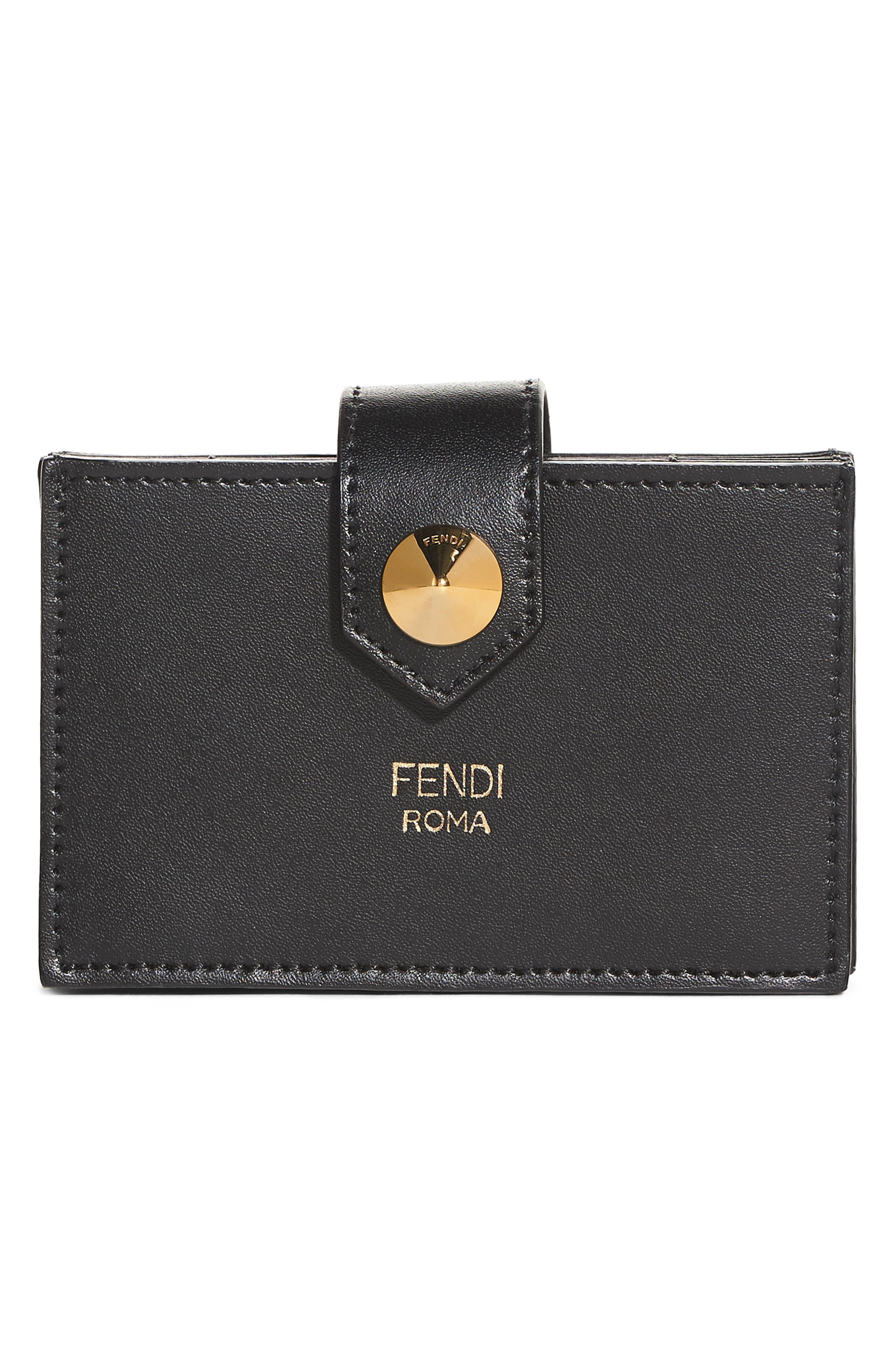Fendi Accordian Leather Card Case