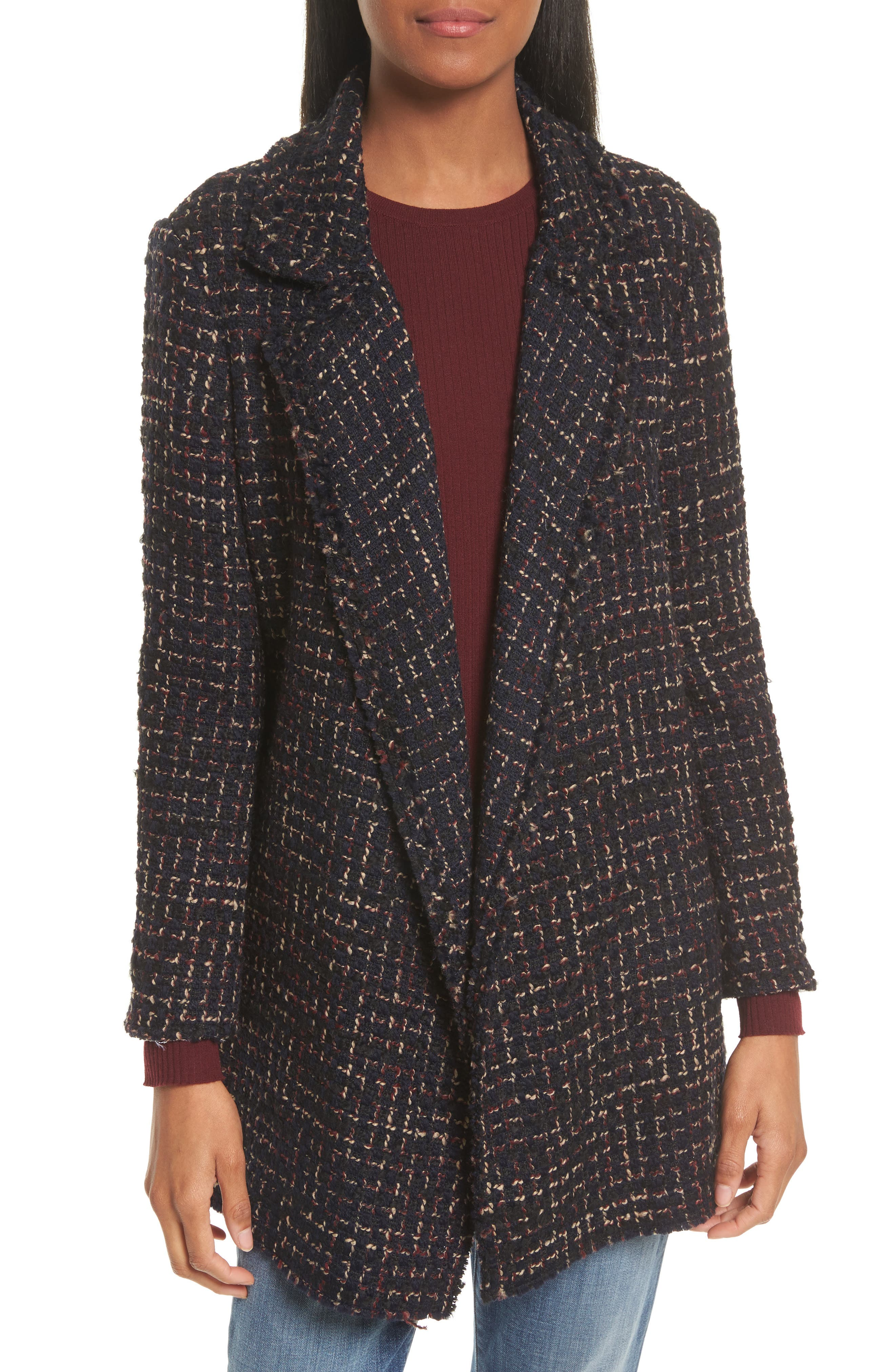 Theory Clairene RB Tweed Bouclé Coat