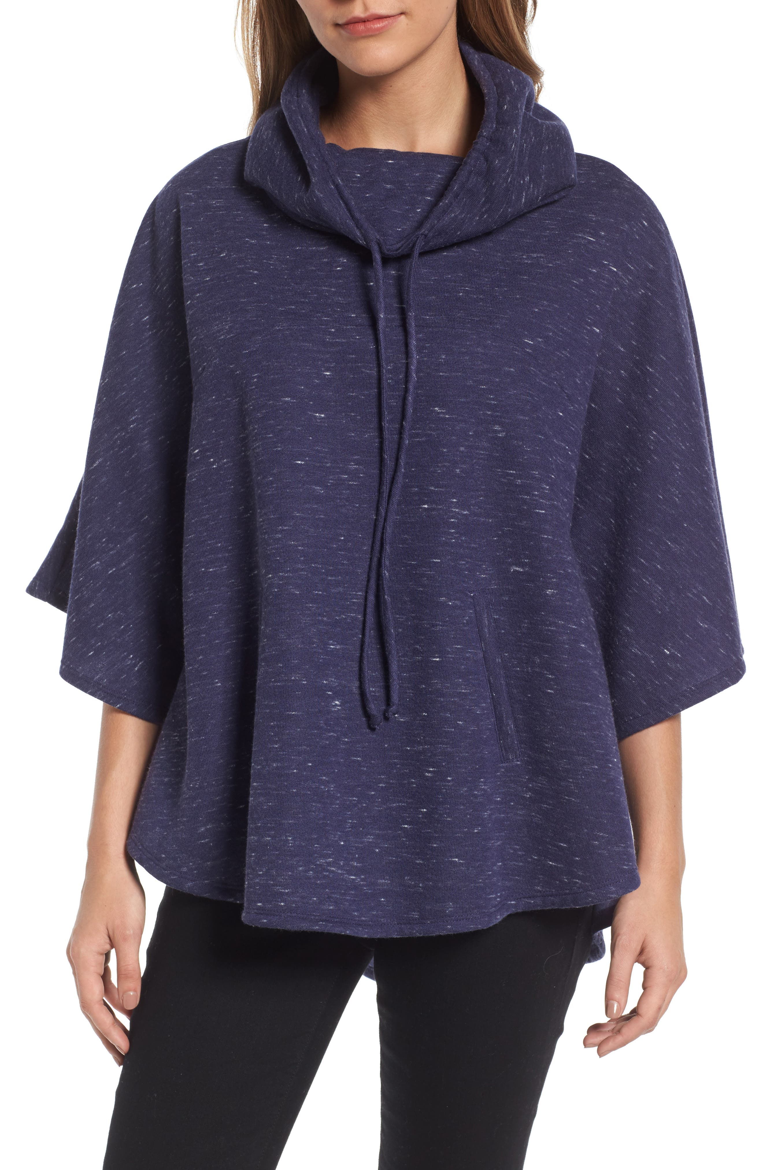 Gibson Funnel Neck Poncho Style Sweatshirt (Regular & Petite)