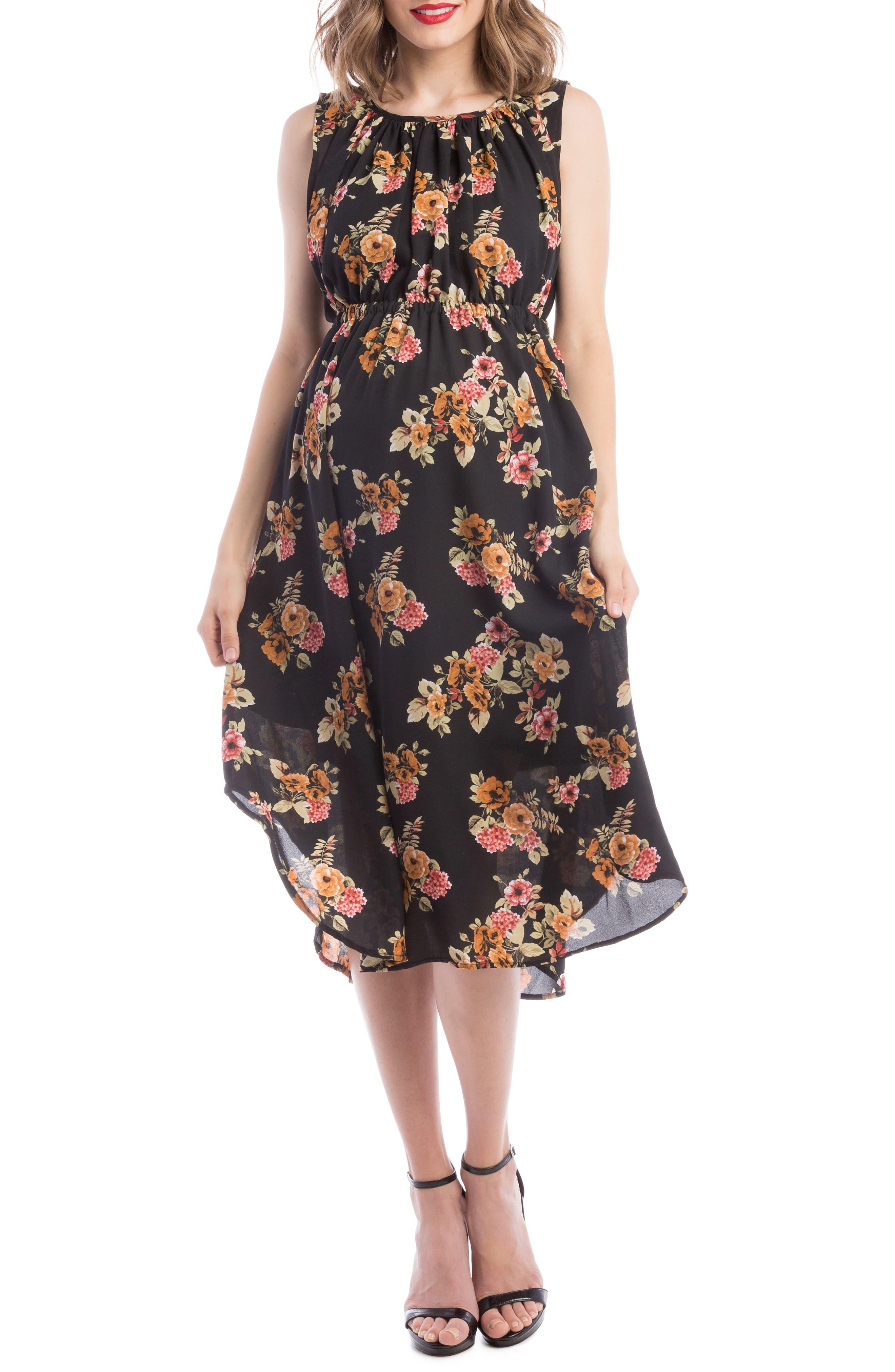Lilac Clothing Grecian Maternity/Nursing Dress