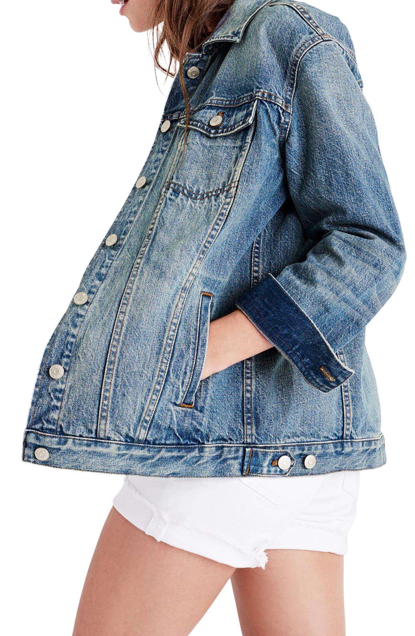 Alternate Image 1 Selected - Madewell Oversize Denim Jacket