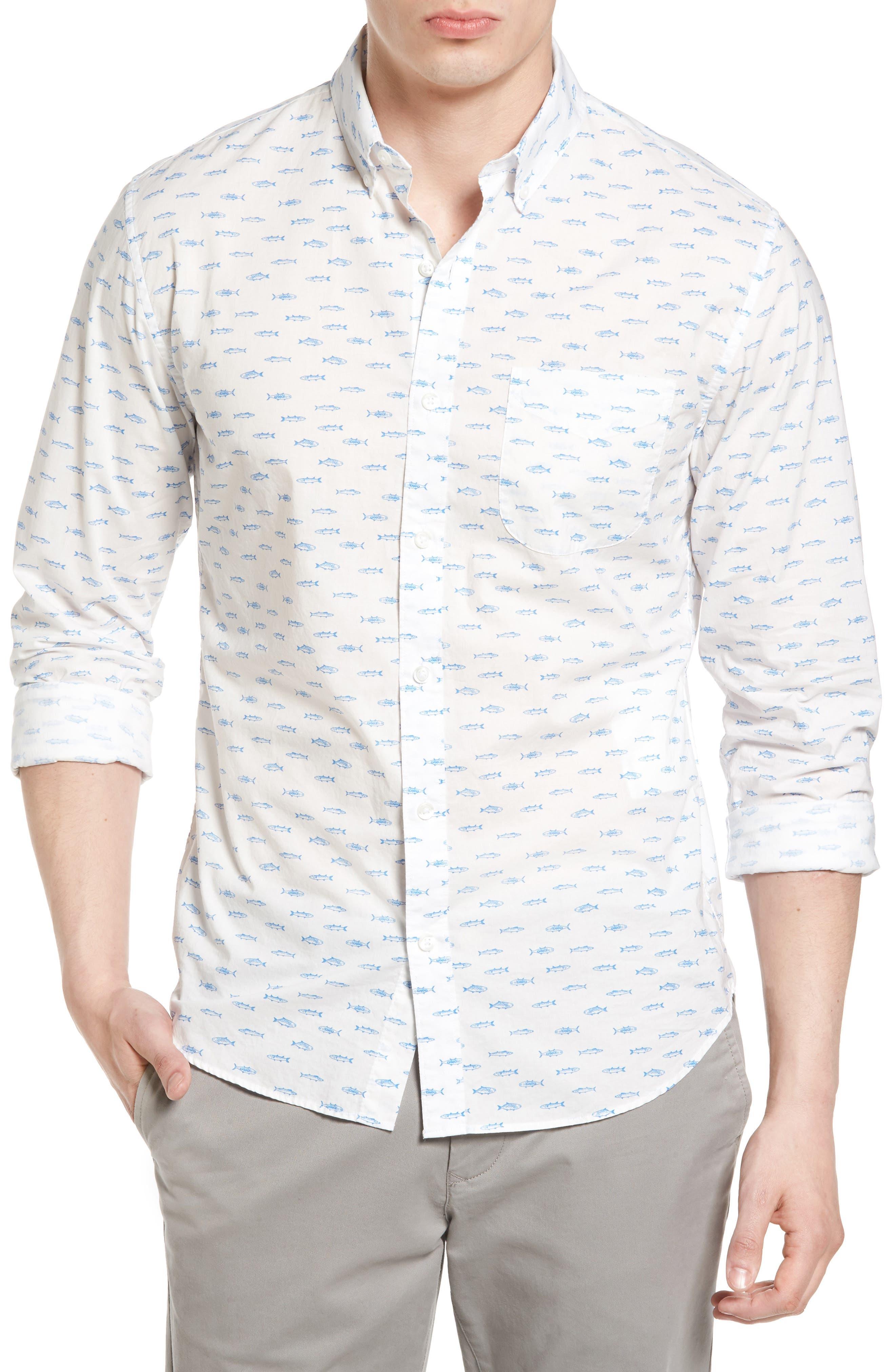 Bonobos Slim Fit Summerweight Print Sport Shirt