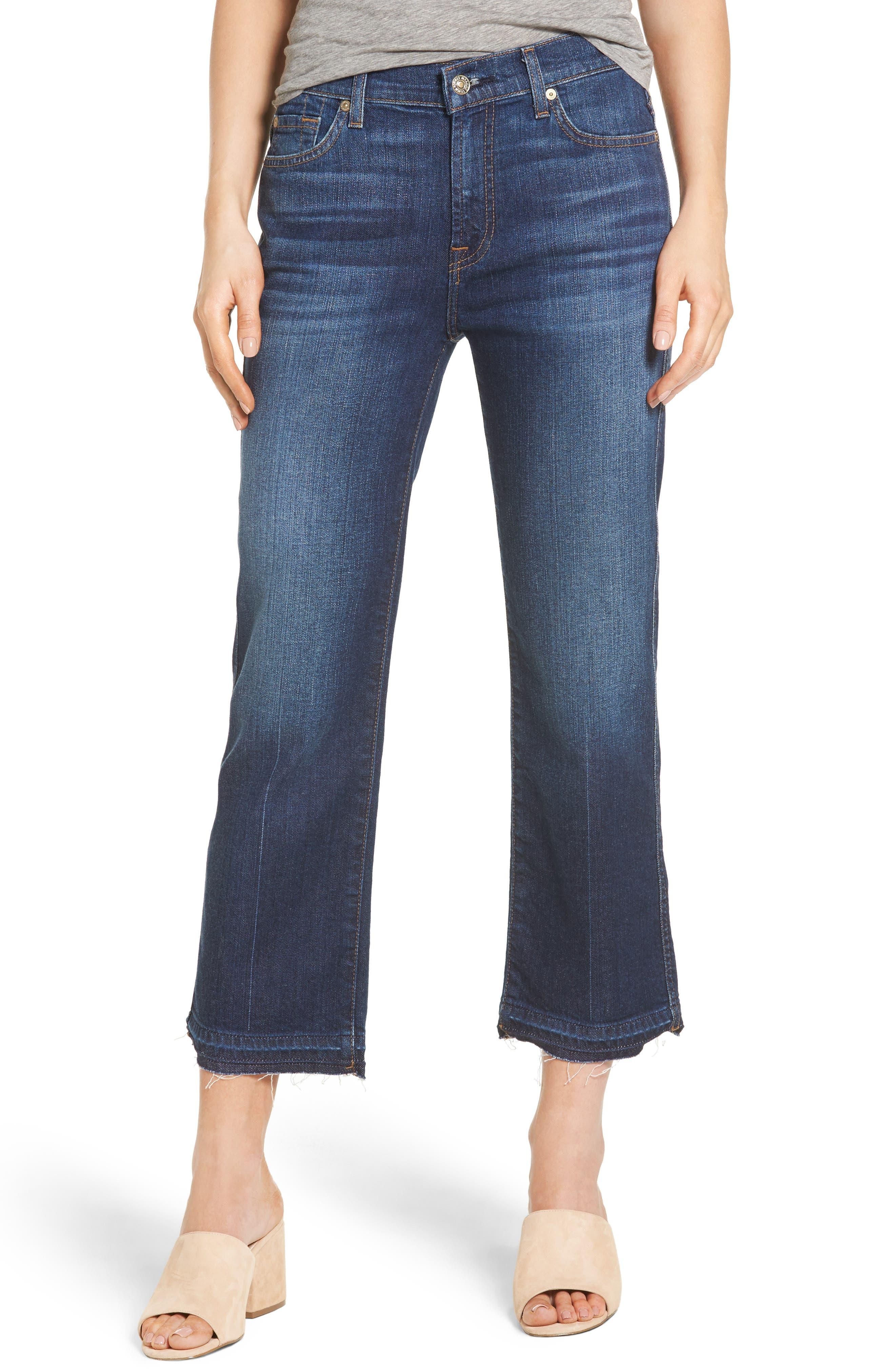 Main Image - 7 For All Mankind® Kiki High Waist Crop Wide Leg Jeans (Eden Port)