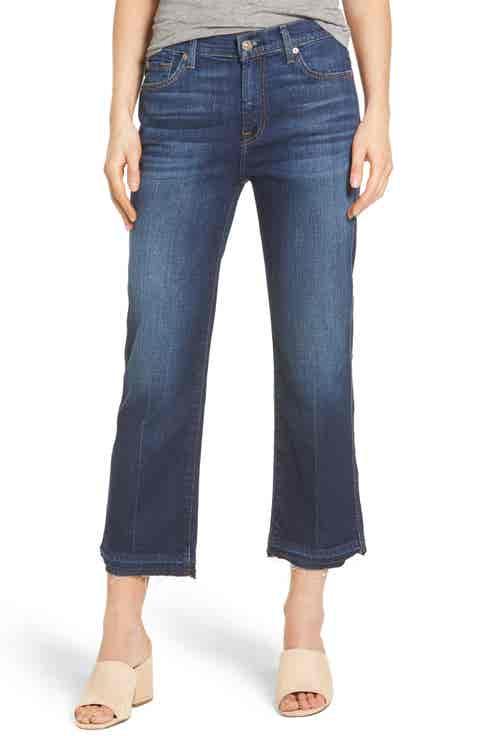 7 For All Mankind® Kiki High Waist Crop Wide Leg Jeans (Eden Port)