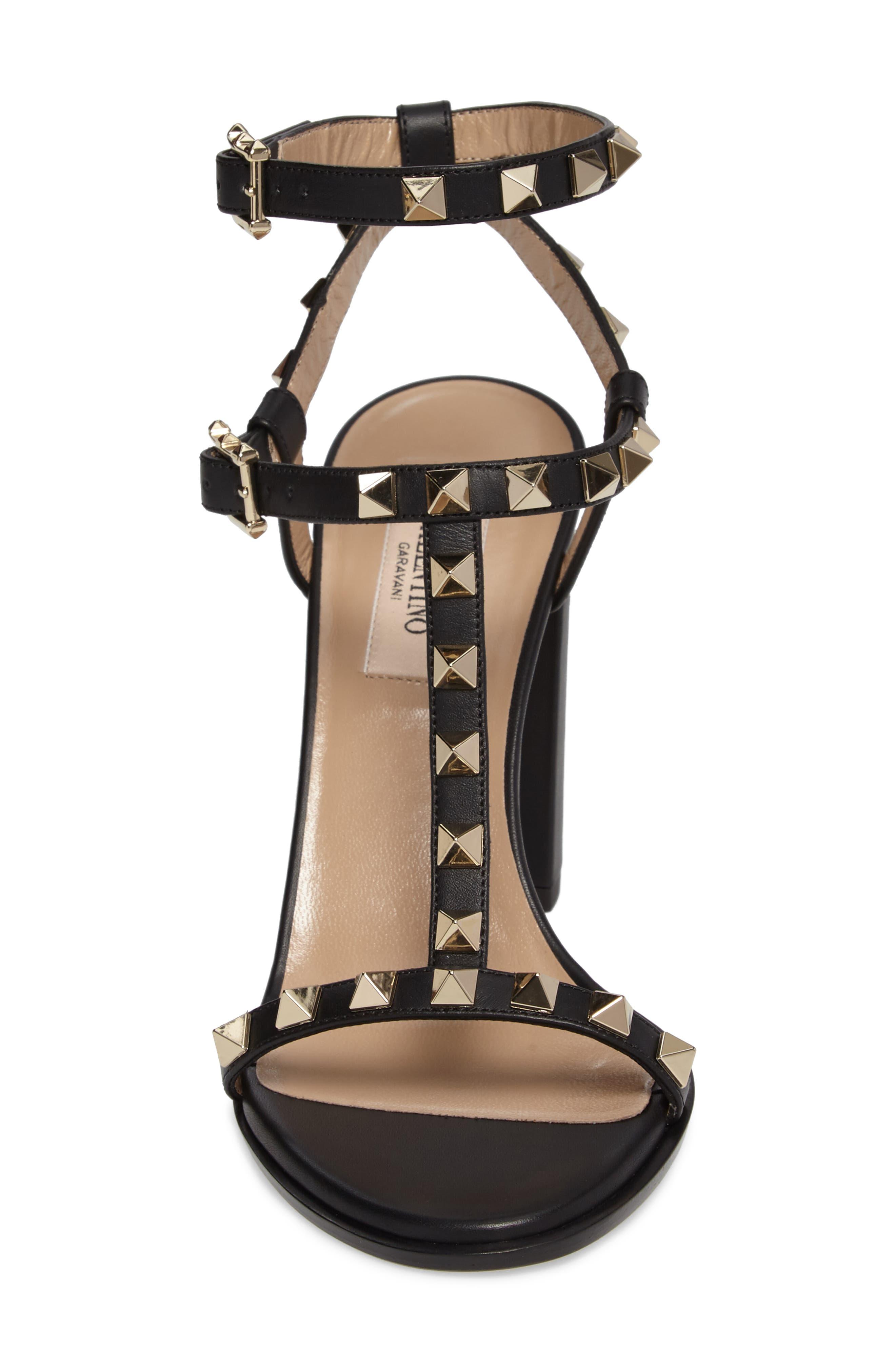 Alternate Image 4  - Valentino Rockstud Ankle Strap Sandal (Women)