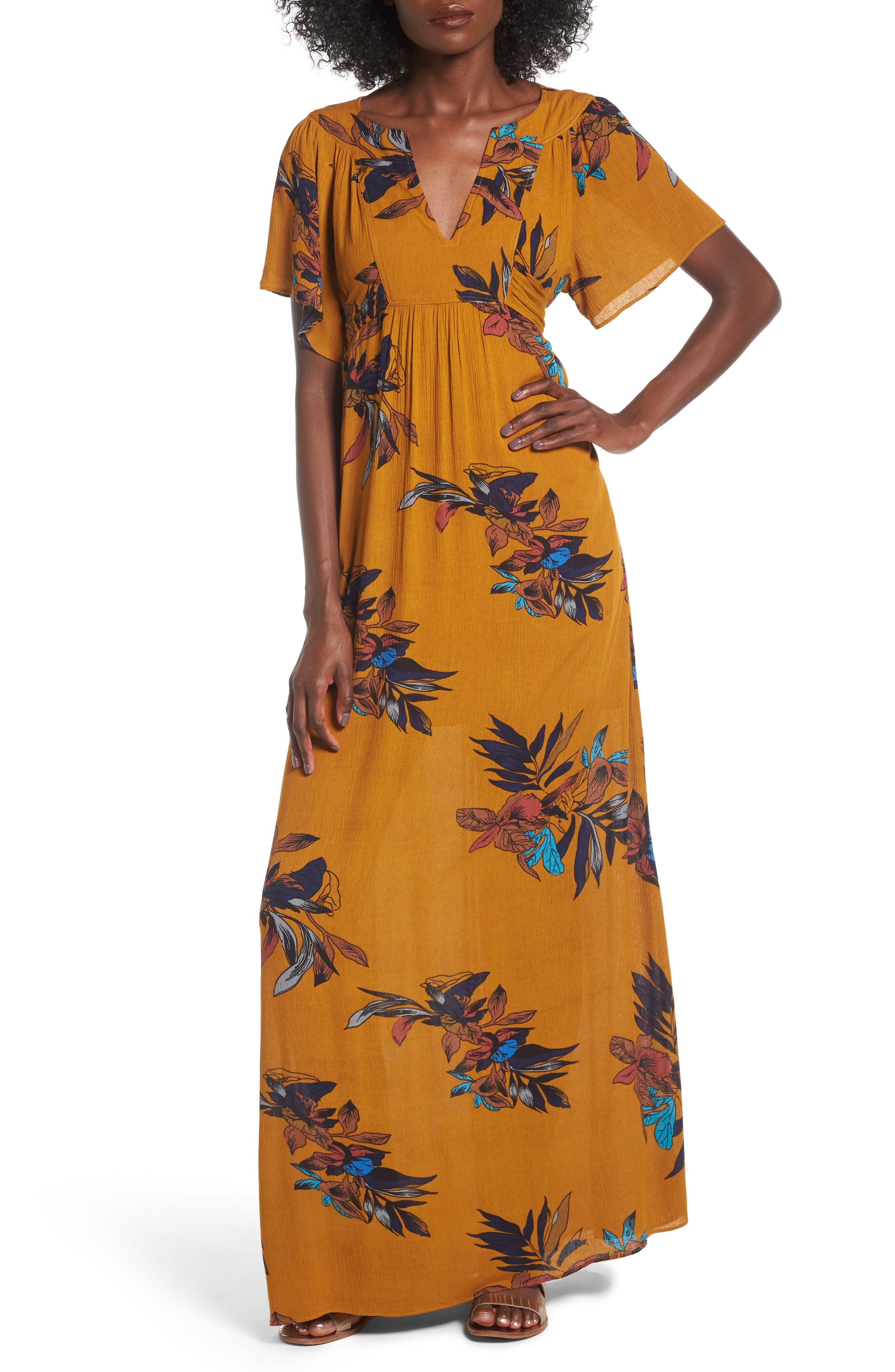 Everly Print Maxi Dress