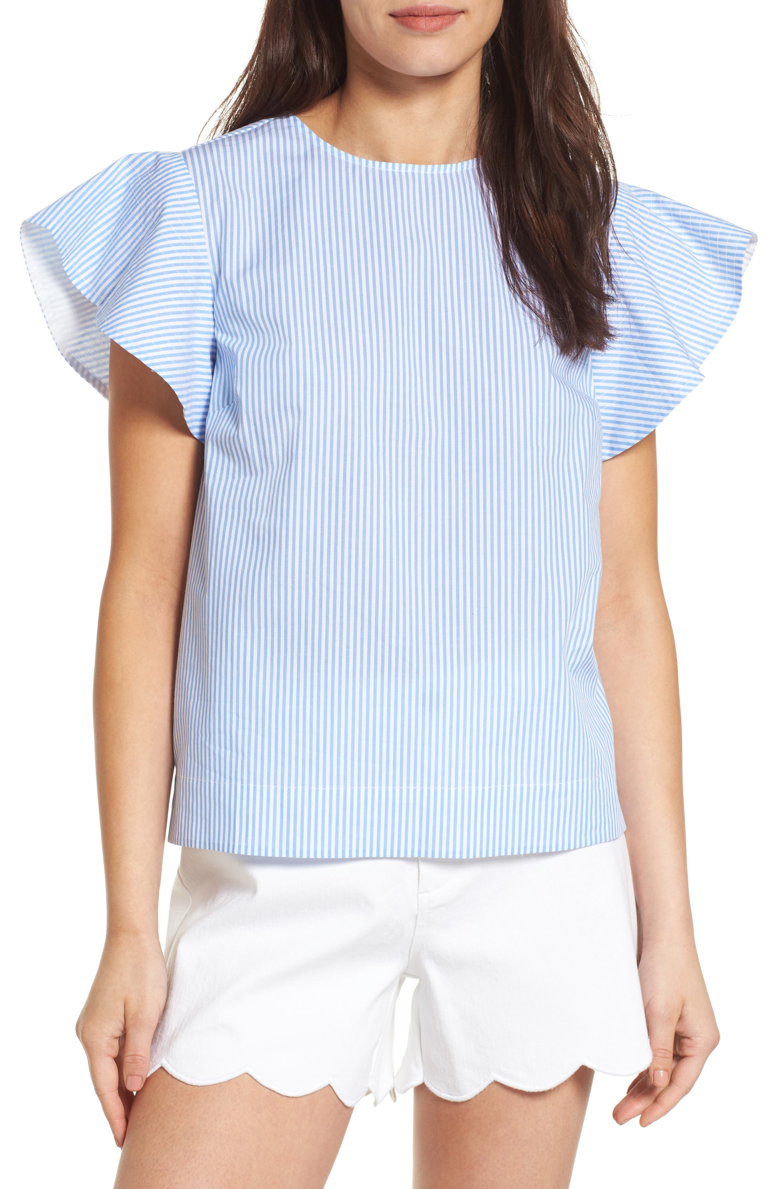 Draper James Stripe Cloister Top (Nordstrom Exclusive)