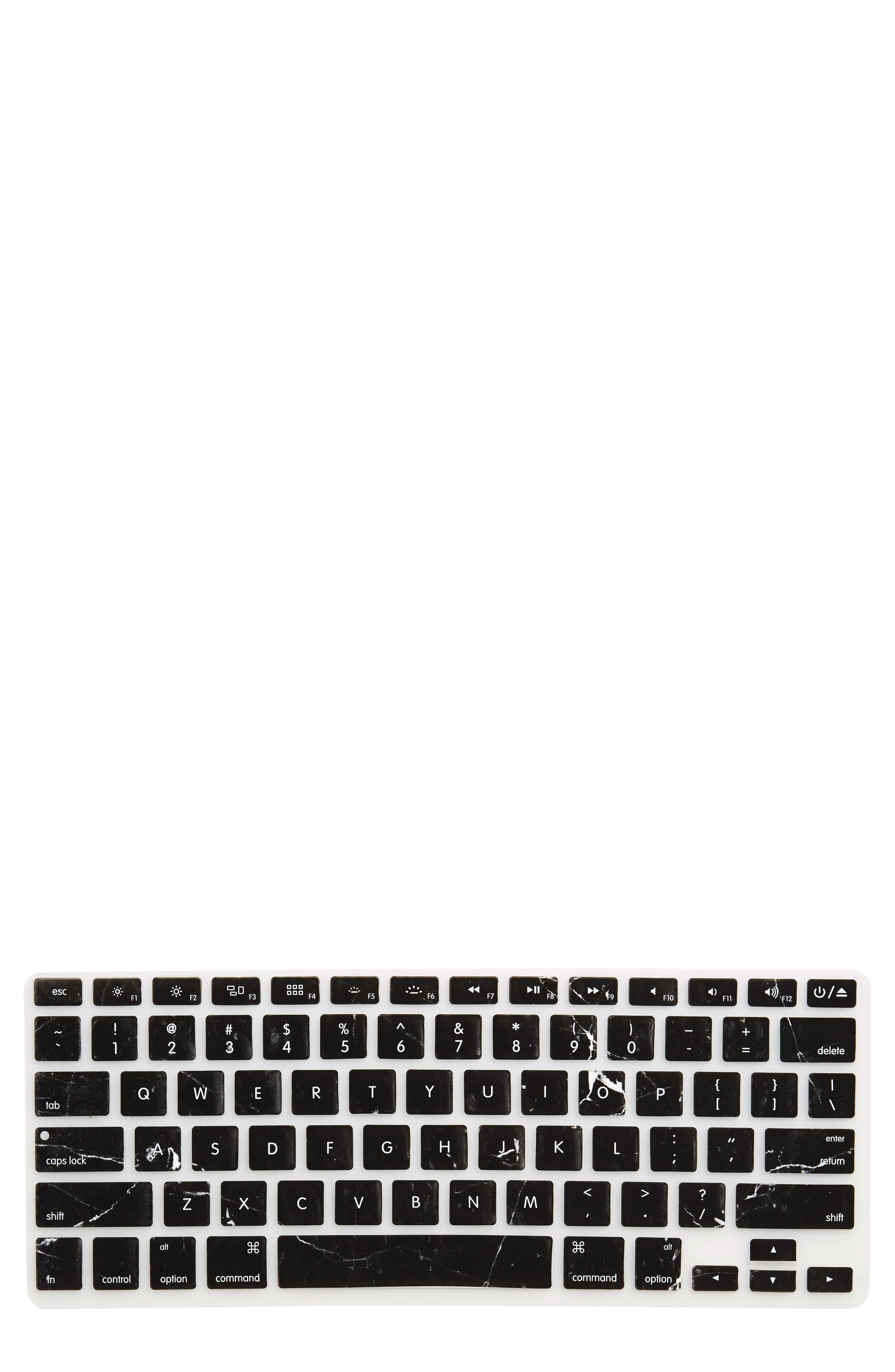 Alternate Image 1 Selected - Recover Black Marble MacBook Keyboard Skin