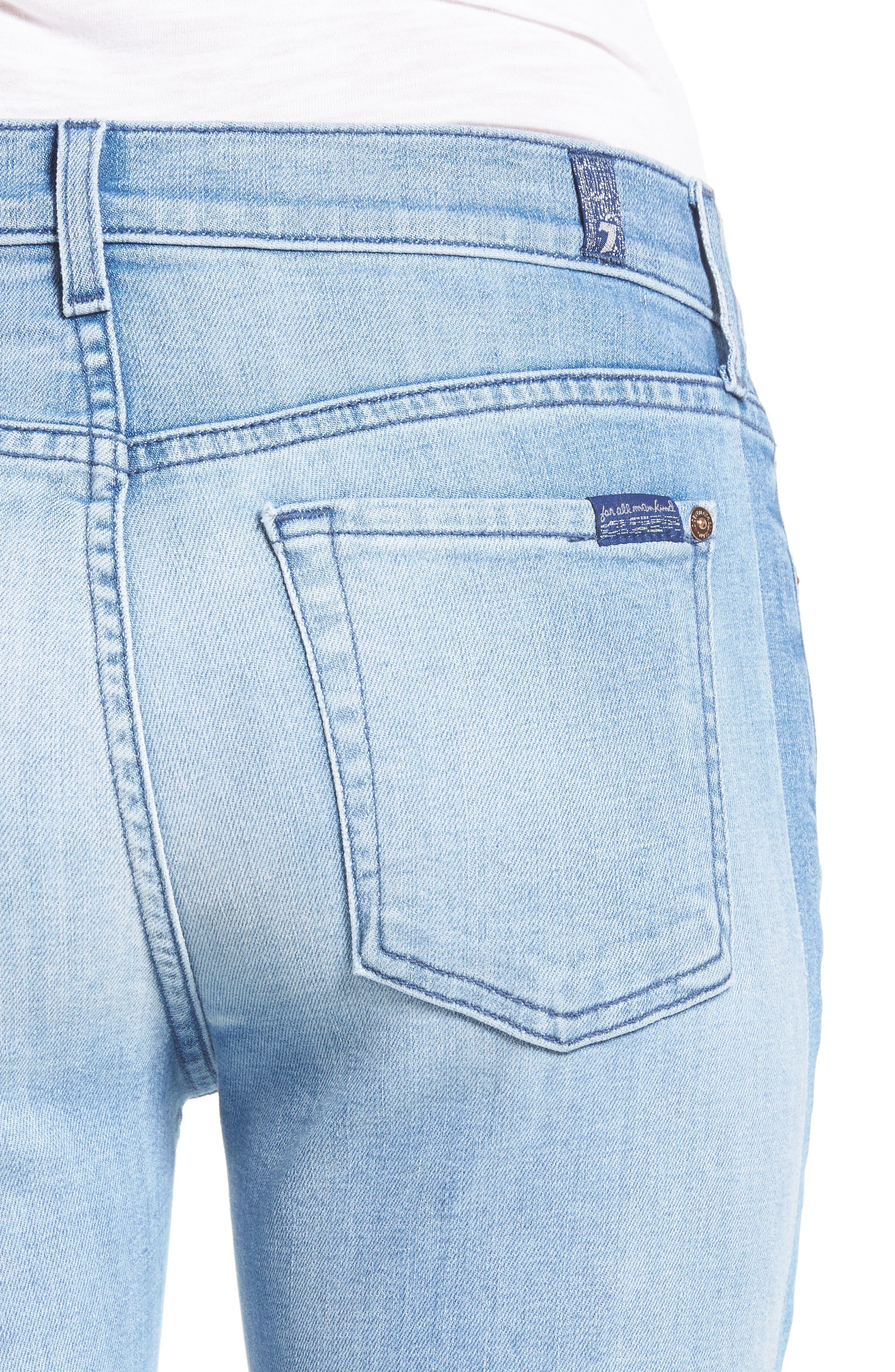 Alternate Image 5  - 7 For All Mankind® Roxanne Original Ankle Skinny Jeans (Bright Chelsea)