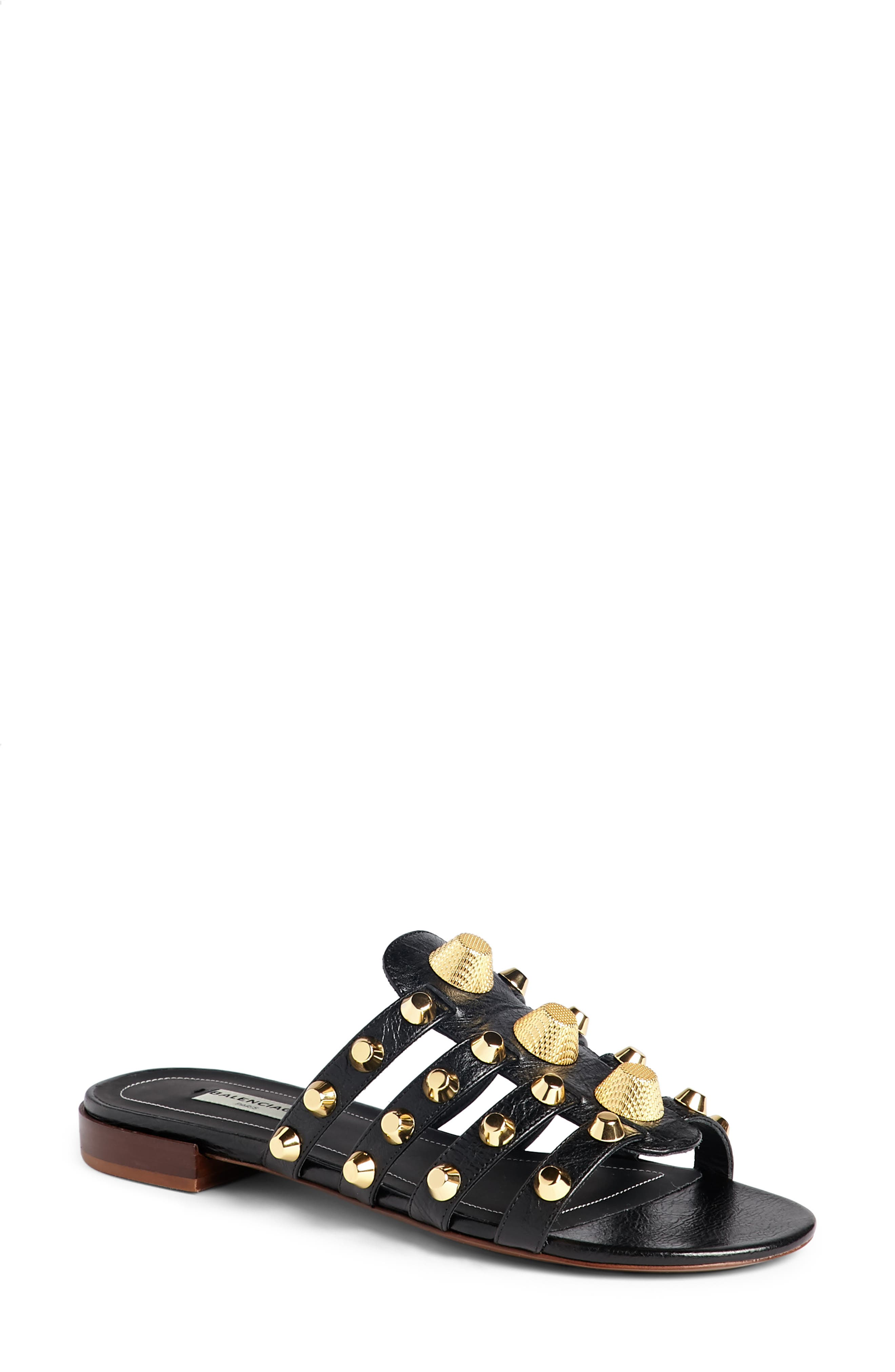 Balenciaga Arena Studded Slip-On Sandal (Women)