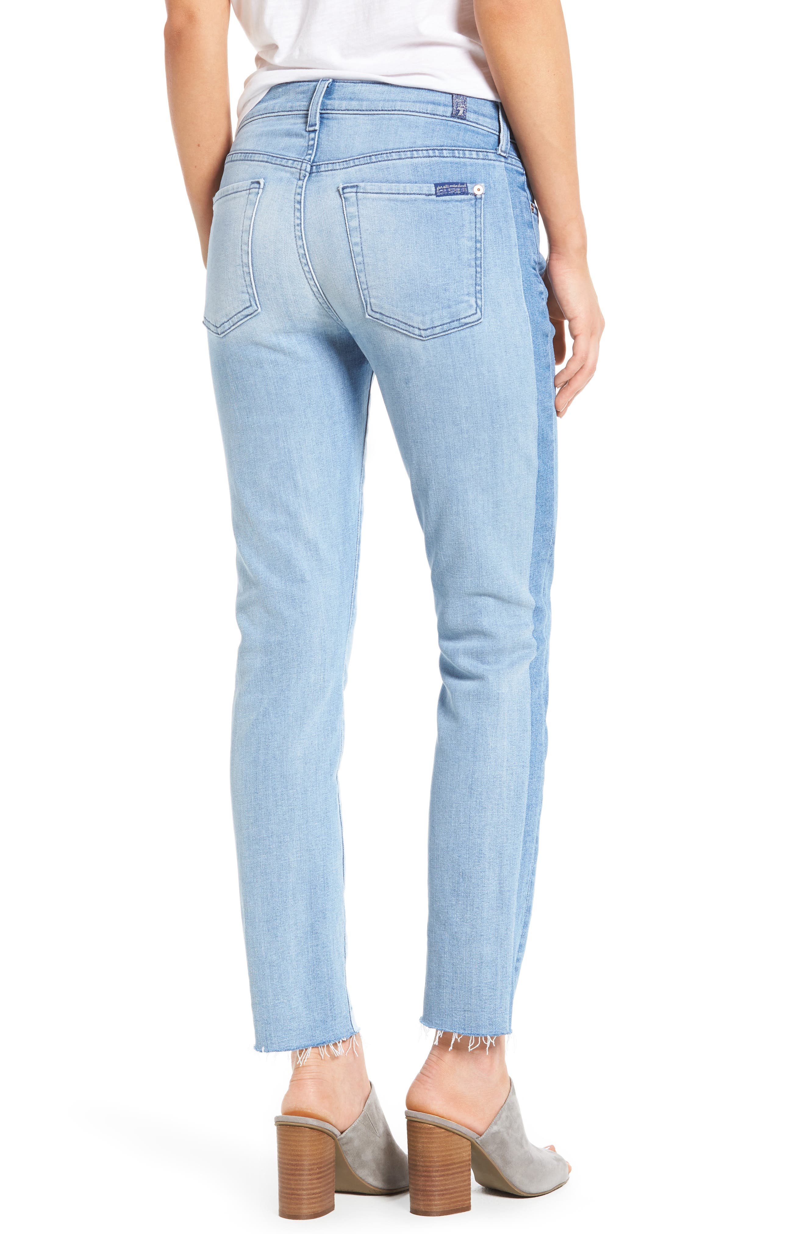 Alternate Image 3  - 7 For All Mankind® Roxanne Original Ankle Skinny Jeans (Bright Chelsea)