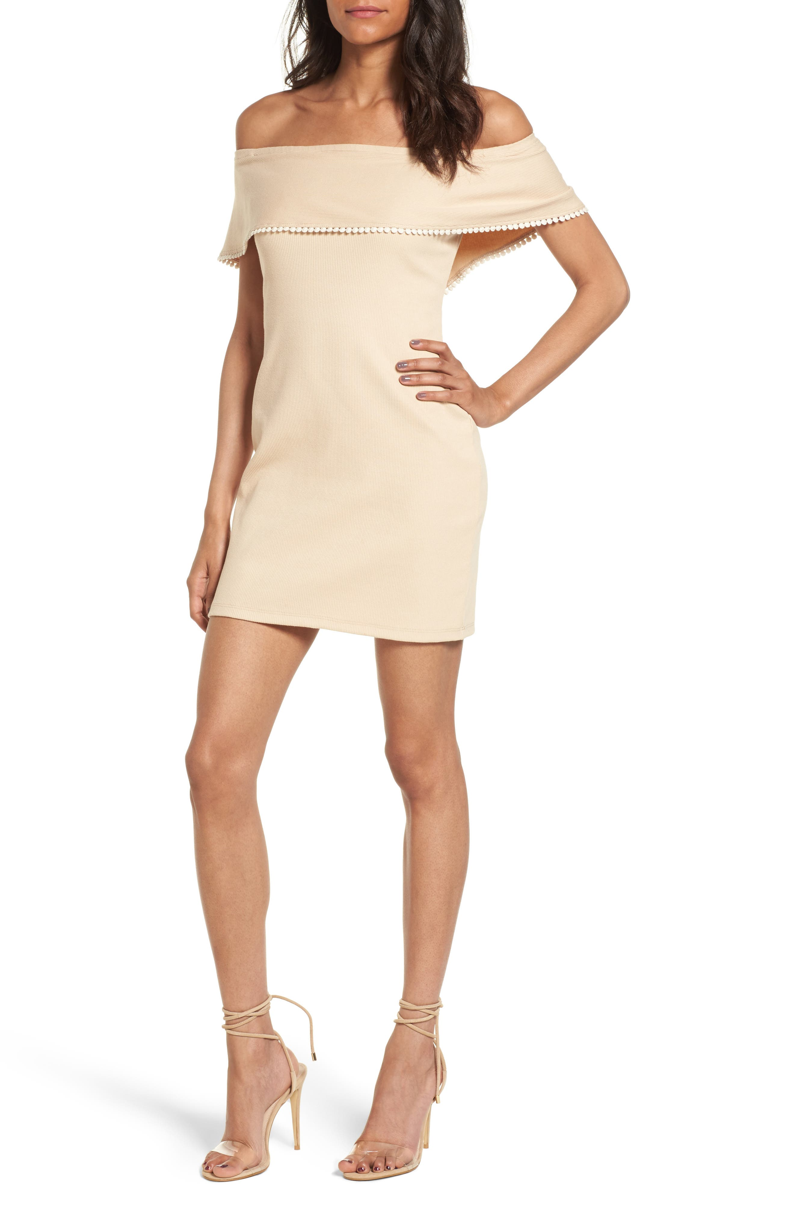 WAYF Off the Shoulder Body-Con Dress
