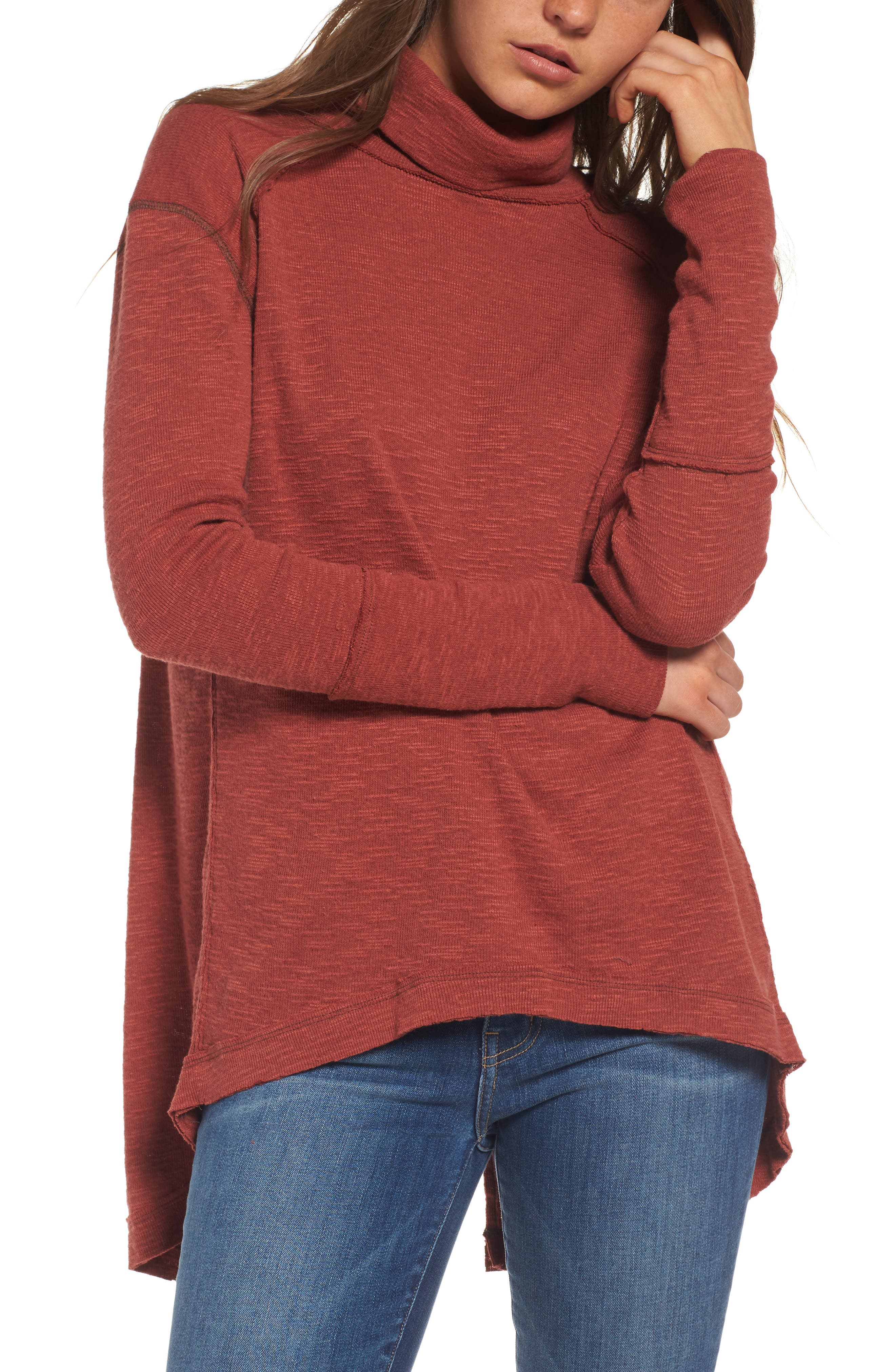 Alternate Image 1 Selected - Free People Split Back Turtleneck