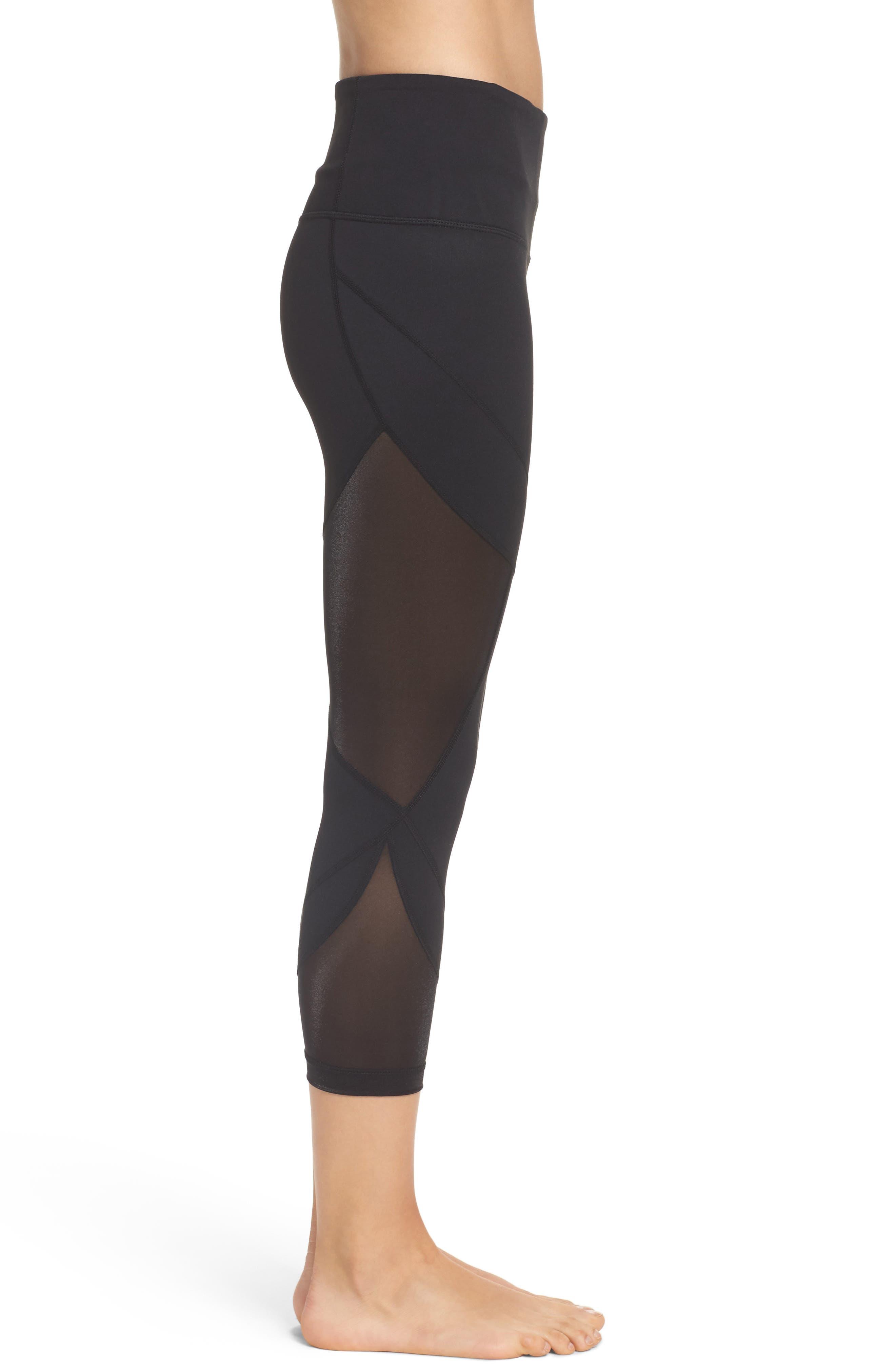 Alternate Image 3  - Zella Glam High Waist Crop Leggings