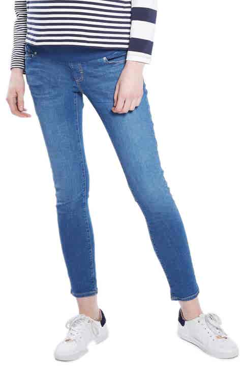 Topshop Leigh Maternity Skinny Jeans (Dark Stone)