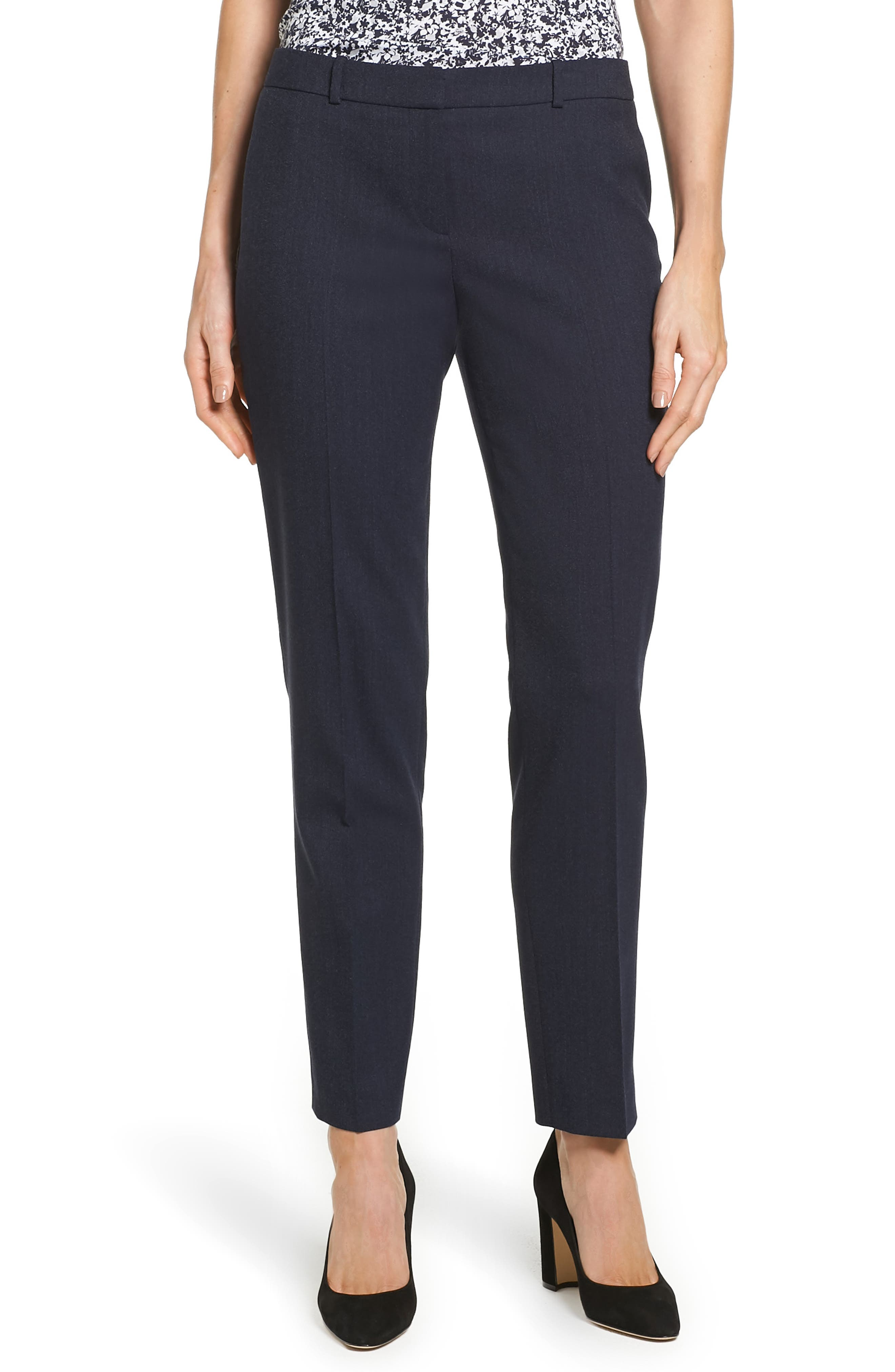 BOSS Tiluna Slim Wool Ankle Trousers