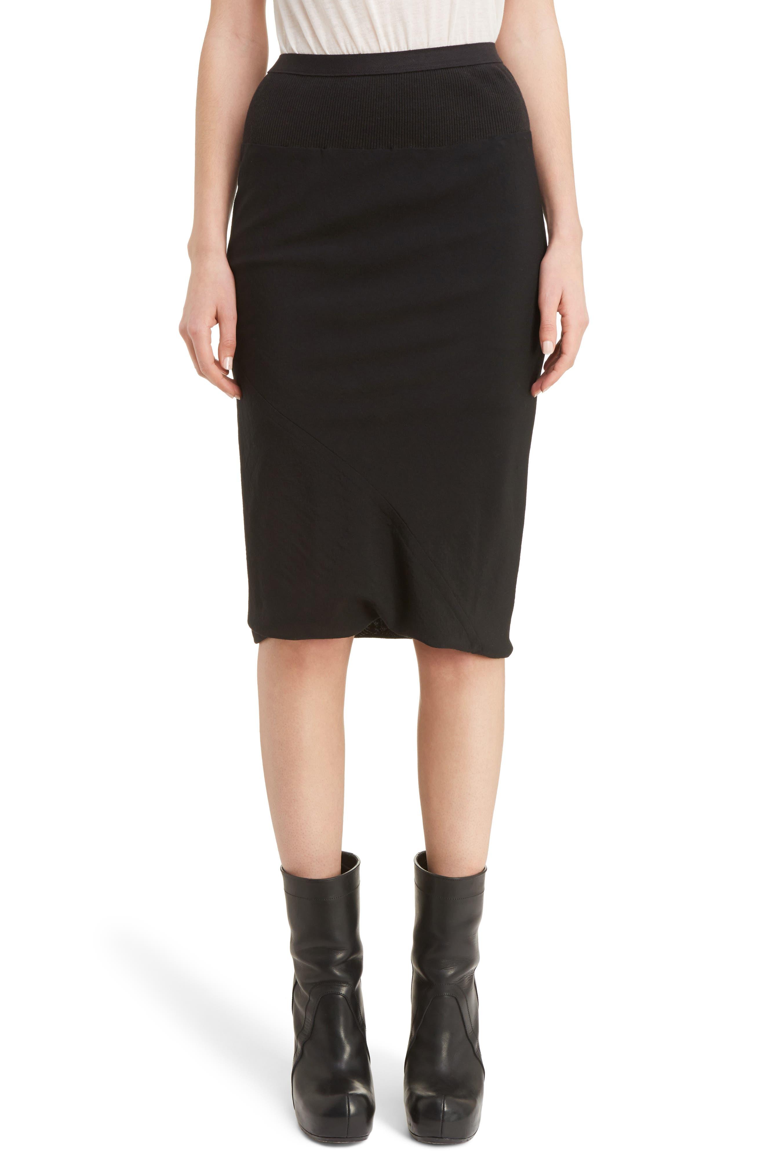 Rick Owens Knit Waist Skirt