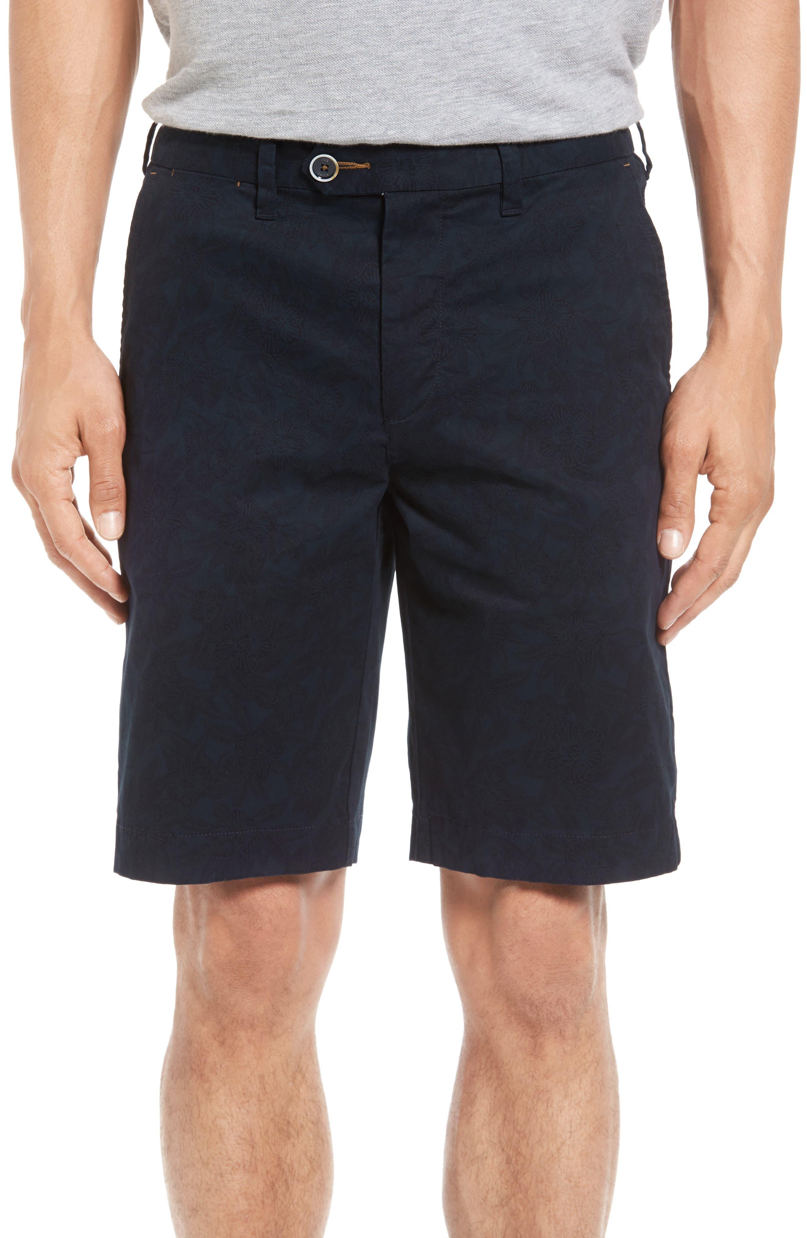 Ted Baker London Oldsho Print Flat Front Shorts