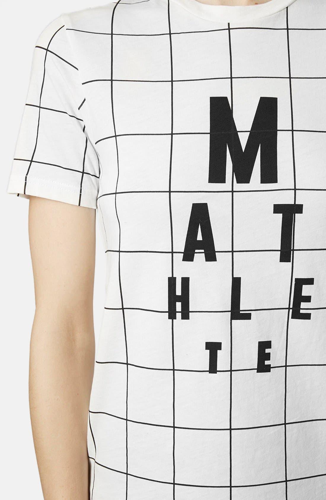 Alternate Image 4  - Topshop Mathlete Grid Tee