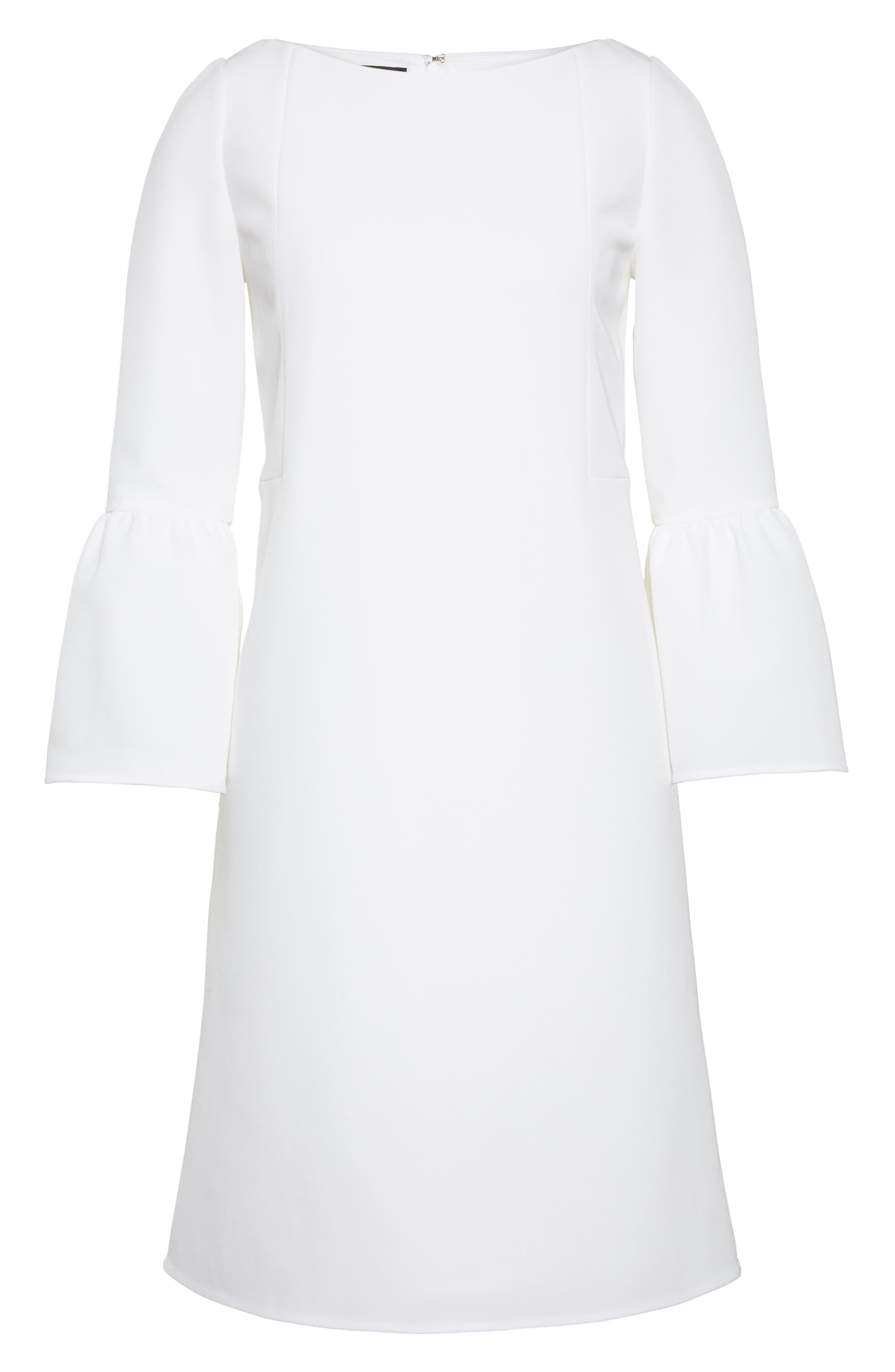 Alternate Image 4  - Lafayette 148 New York Marisa Flounce Cuff Shift Dress (Nordstrom Exclusive)