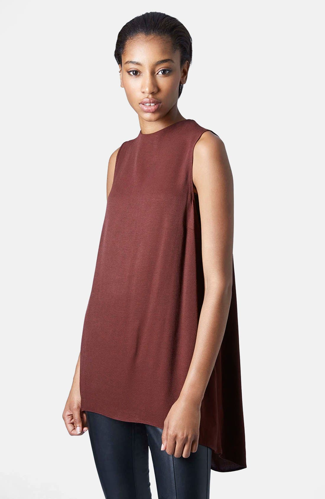 Alternate Image 1 Selected - Topshop Textured Sleeveless Tunic