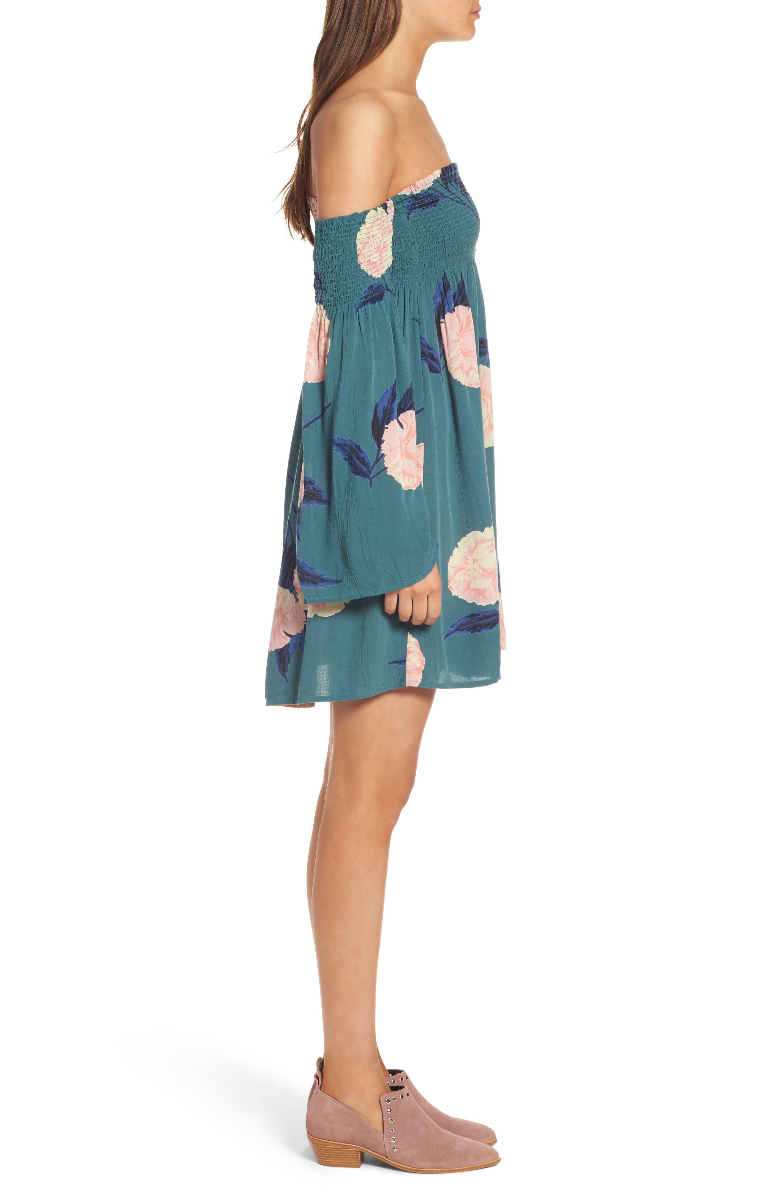 Alternate Image 3  - Billabong Night Fox Off the Shoulder Dress