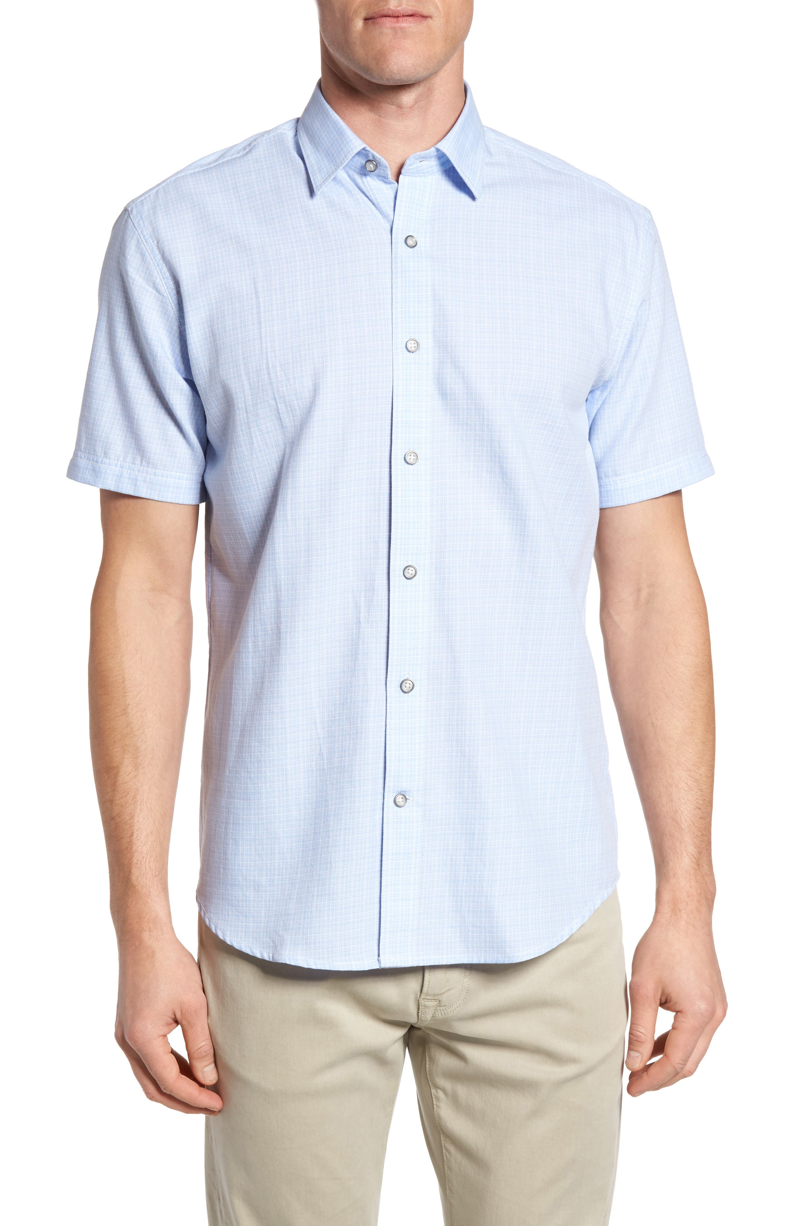 James Campbell Toobin Check Sport Shirt