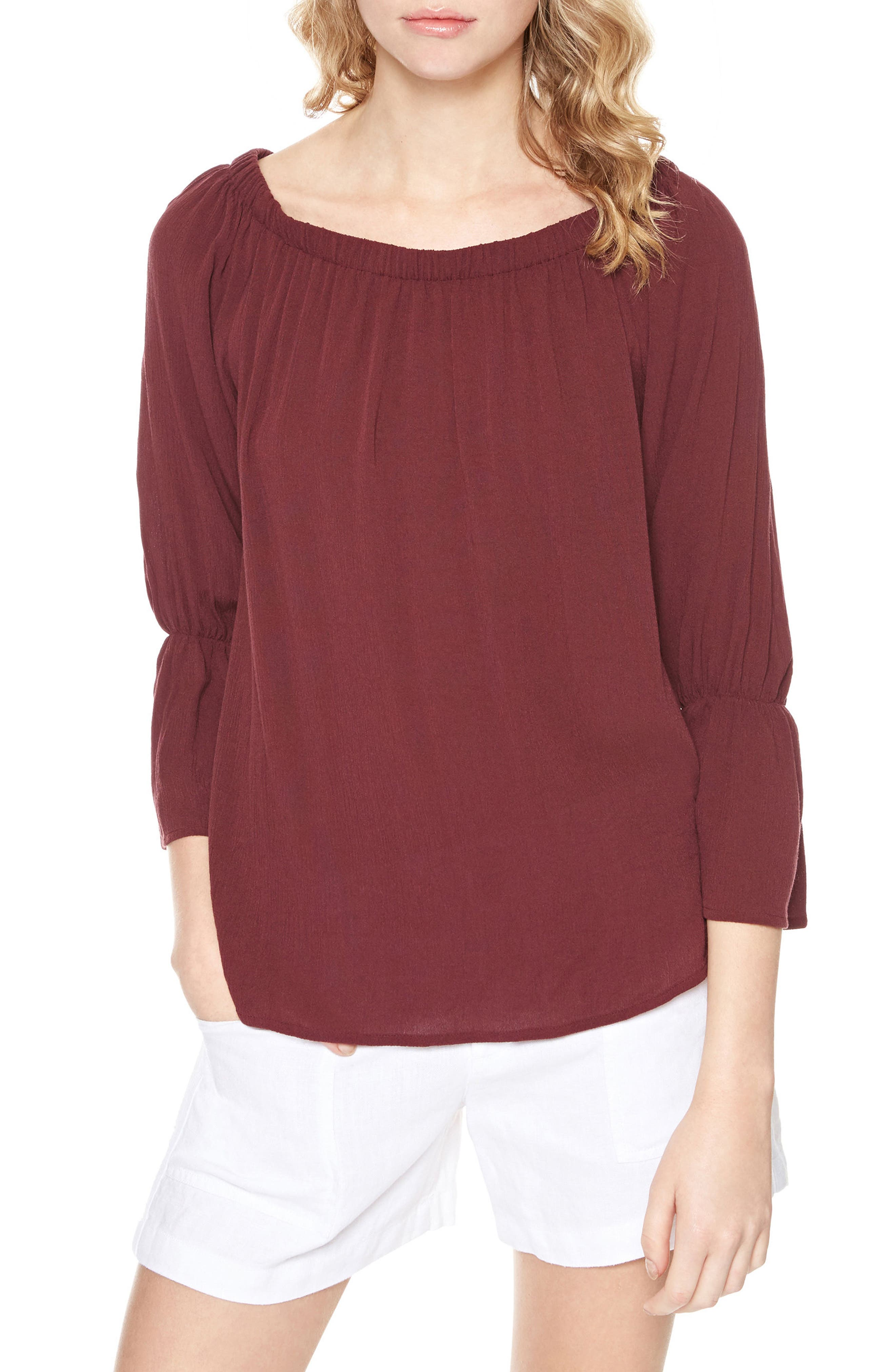 Alternate Image 1 Selected - Sanctuary Off the Shoulder Blouse (Regular & Petite)