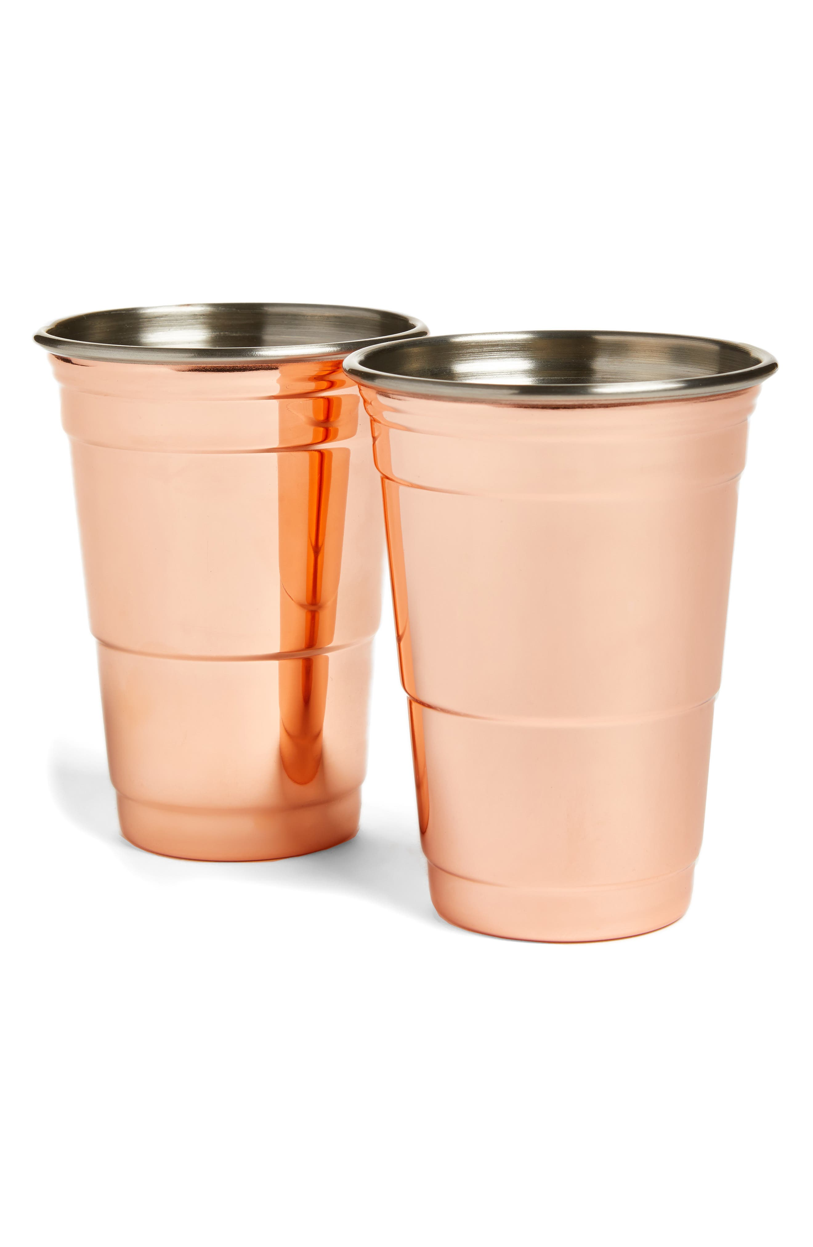 Fred & Friends Set of 2 Copper Party Cups