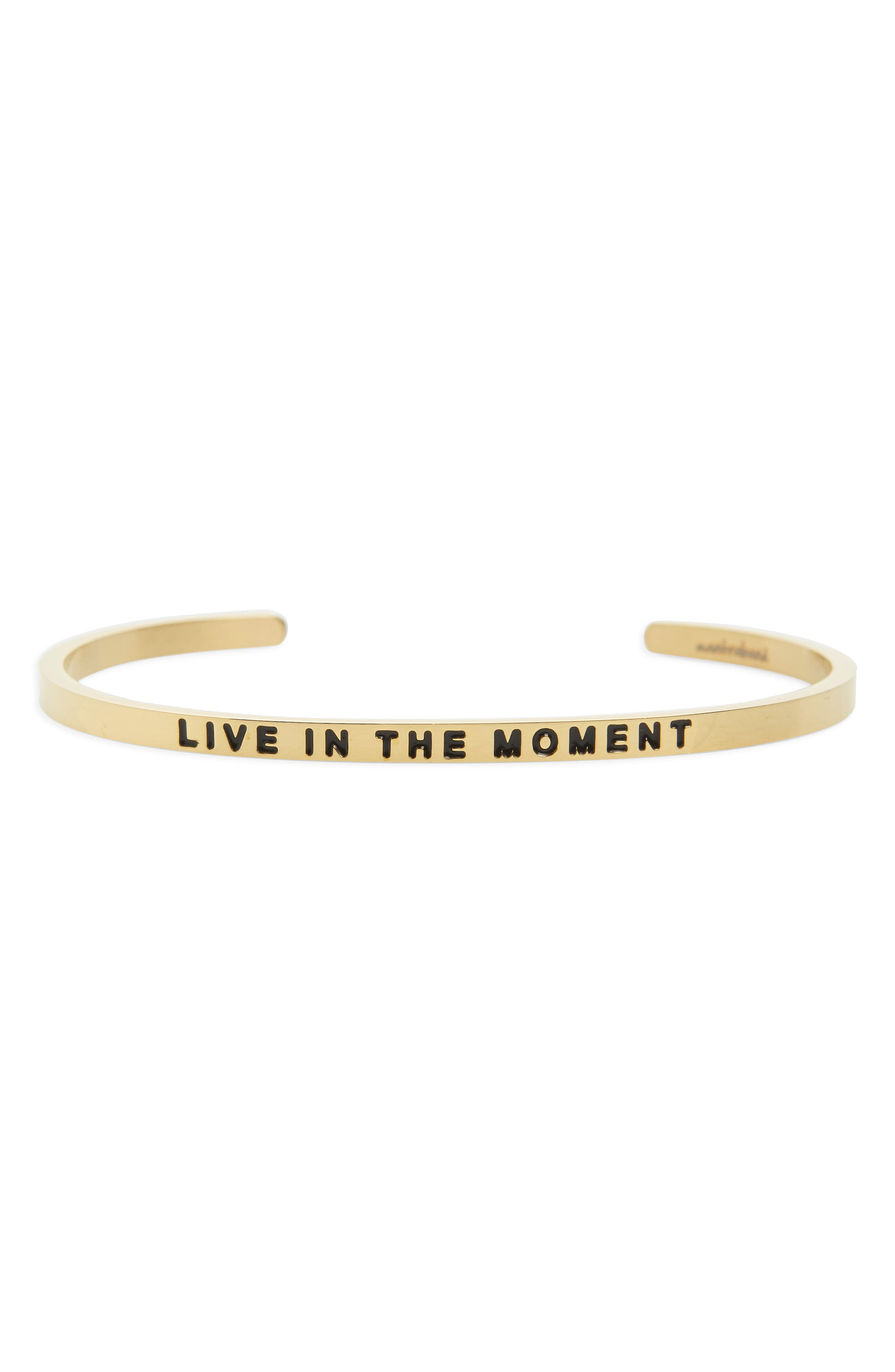 MantraBand Live in the Moment Engraved Cuff