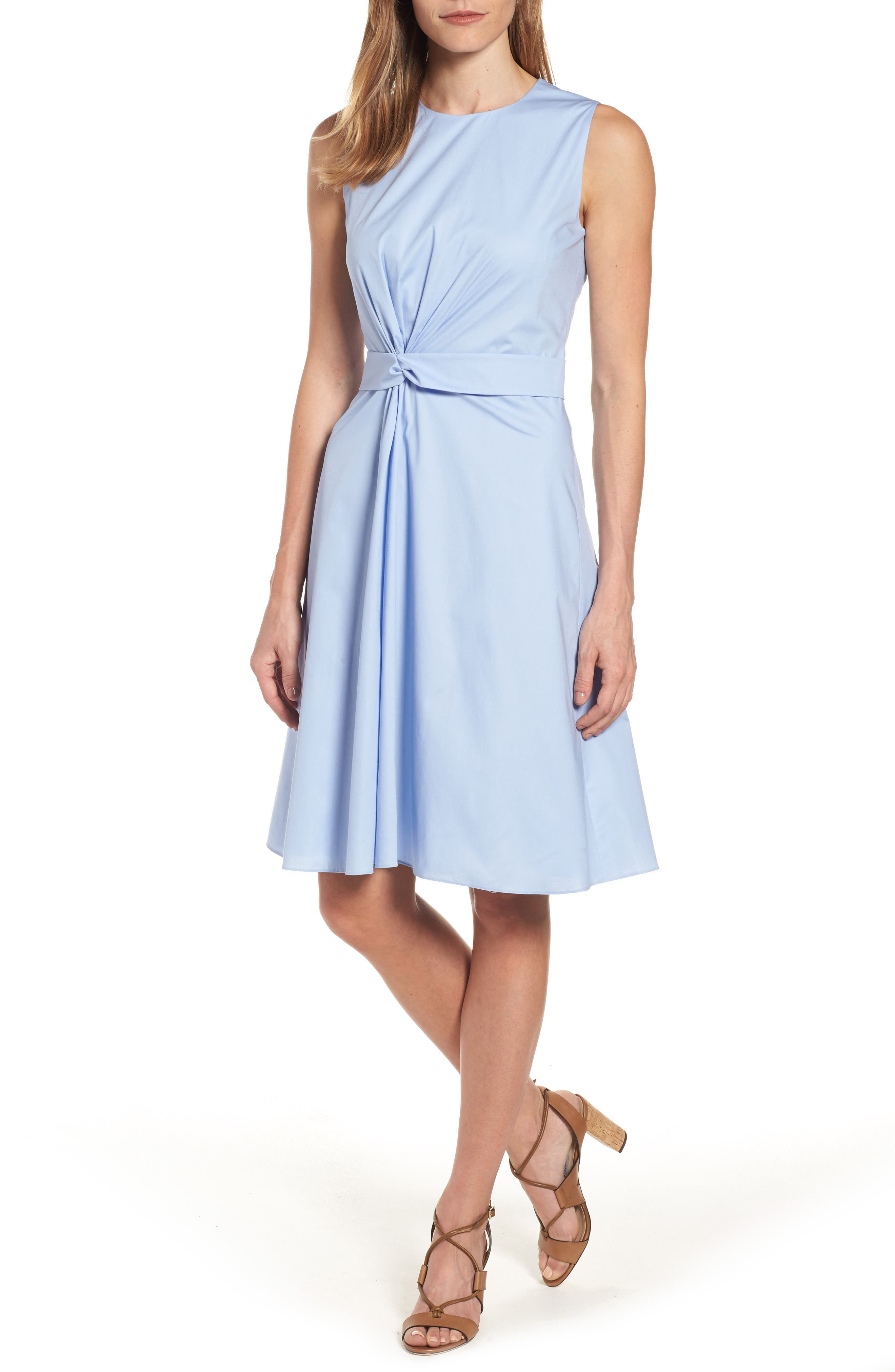 BOSS Digiana Front Twist Poplin Dress (Regular & Petite)