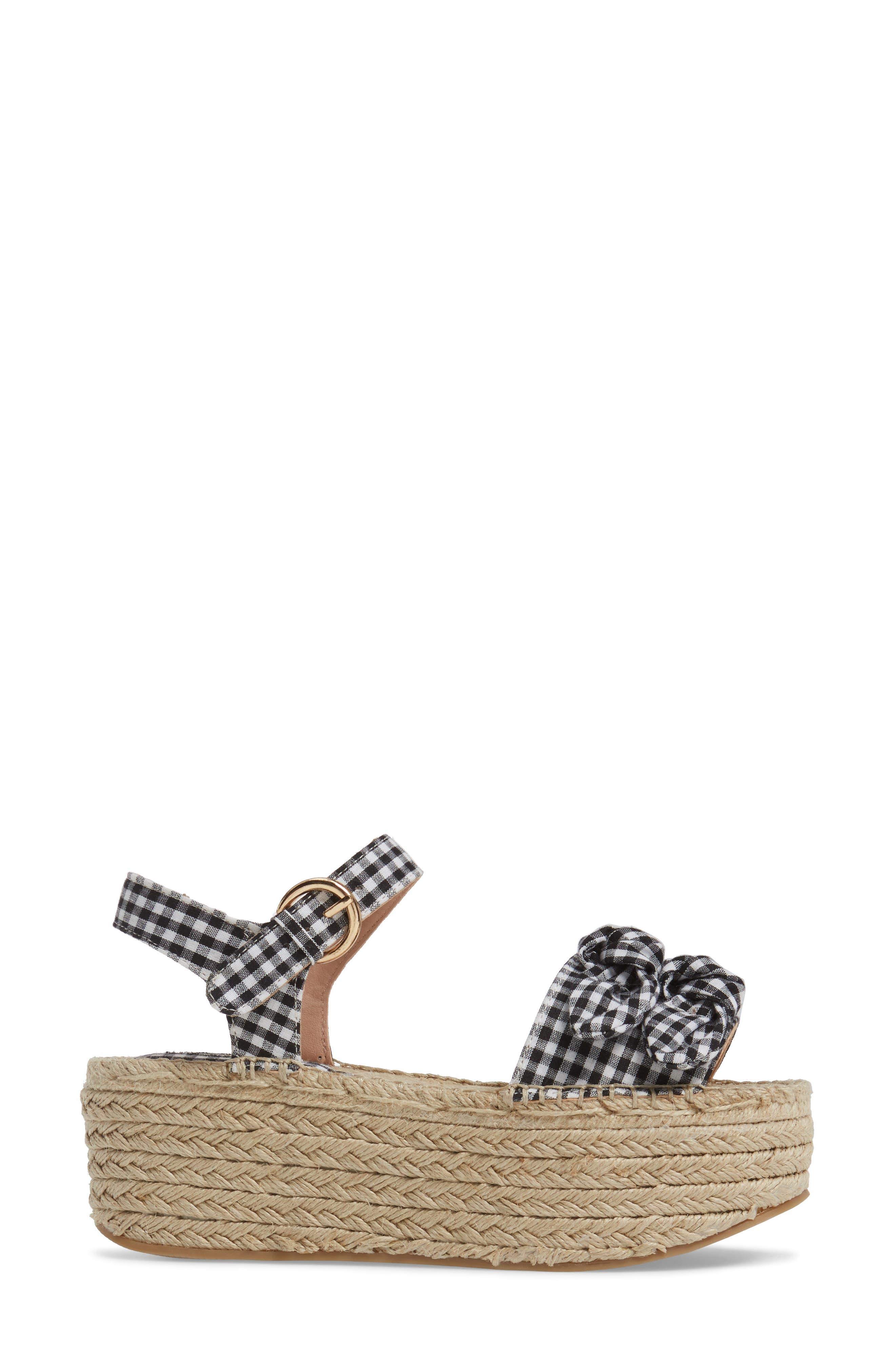 Alternate Image 3  - Topshop Wendy Gingham Platform Sandal (Women)