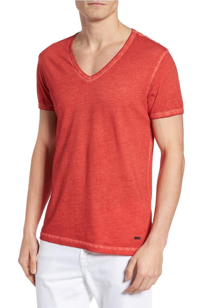 boss orange 39 toulouse 39 v neck t shirt nordstrom. Black Bedroom Furniture Sets. Home Design Ideas