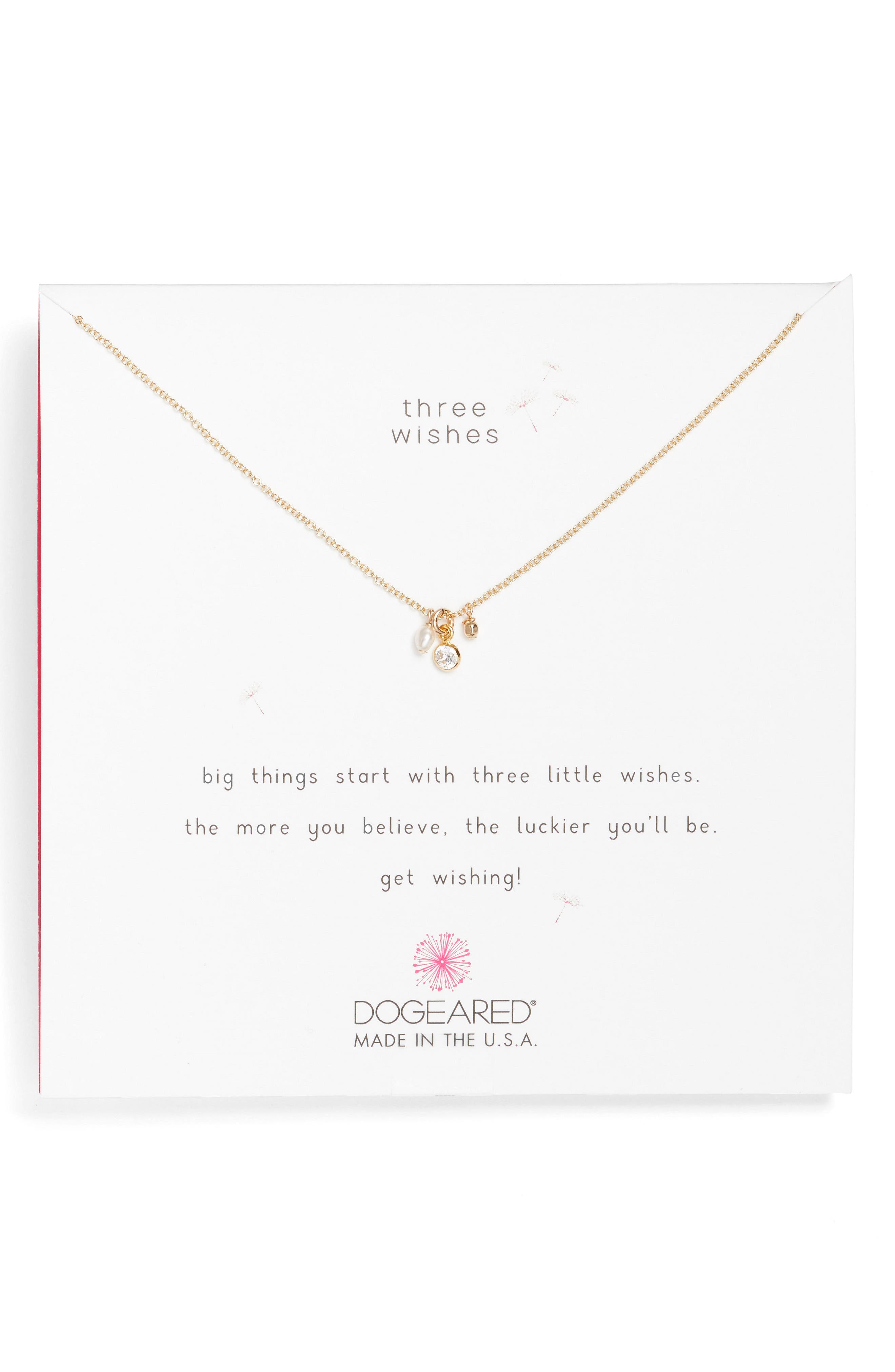 Dogeared Three Wishes Cluster Necklace