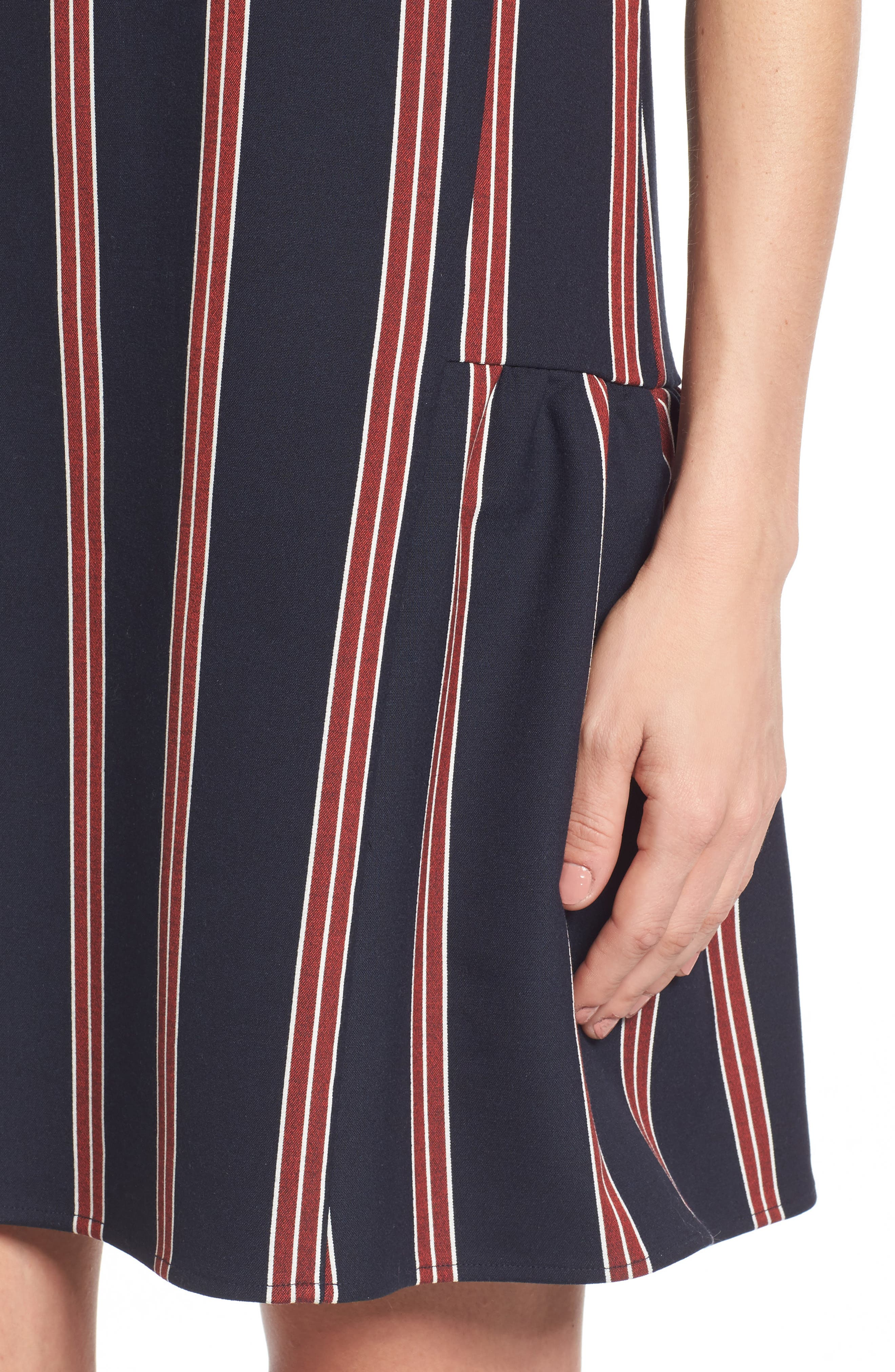 Alternate Image 5  - Halogen® Flounce Back Shift Dress (Regular & Petite)