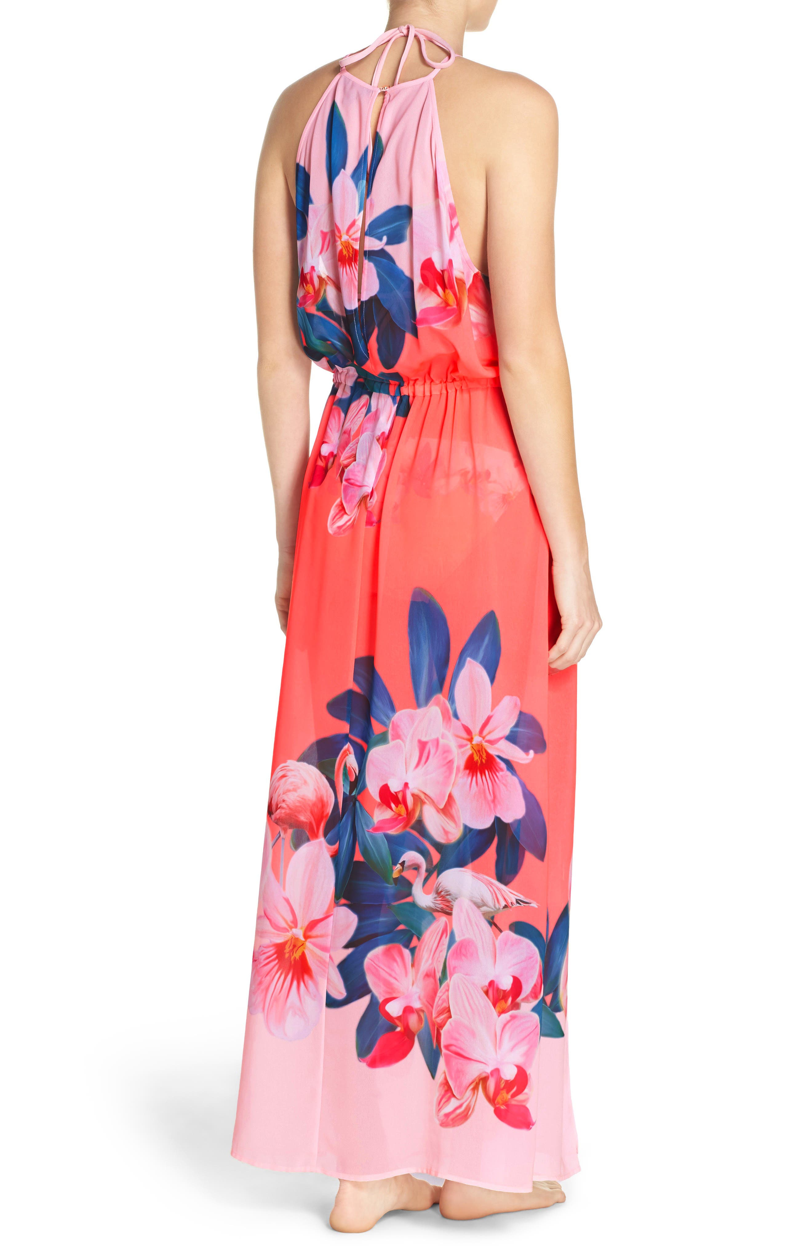 Alternate Image 2  - Ted Baker London Orchid Wonderland Cover-Up Maxi Dress