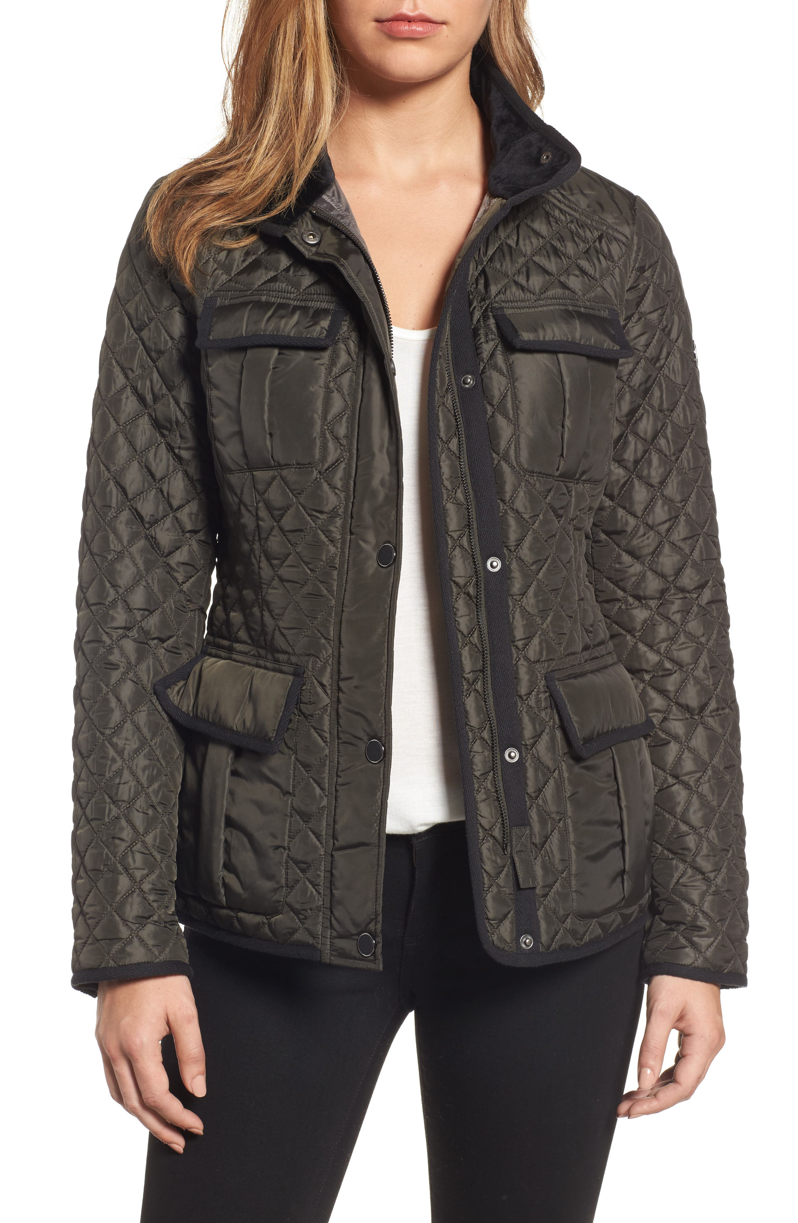 MICHAEL Michael Kors Quilted Utility Jacket (Regular & Petite)