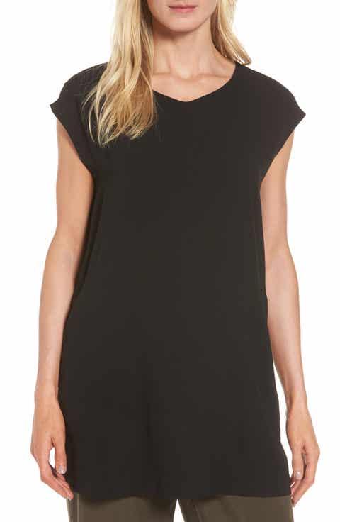 Eileen Fisher Silk Crepe Tunic (Regular   Petite)