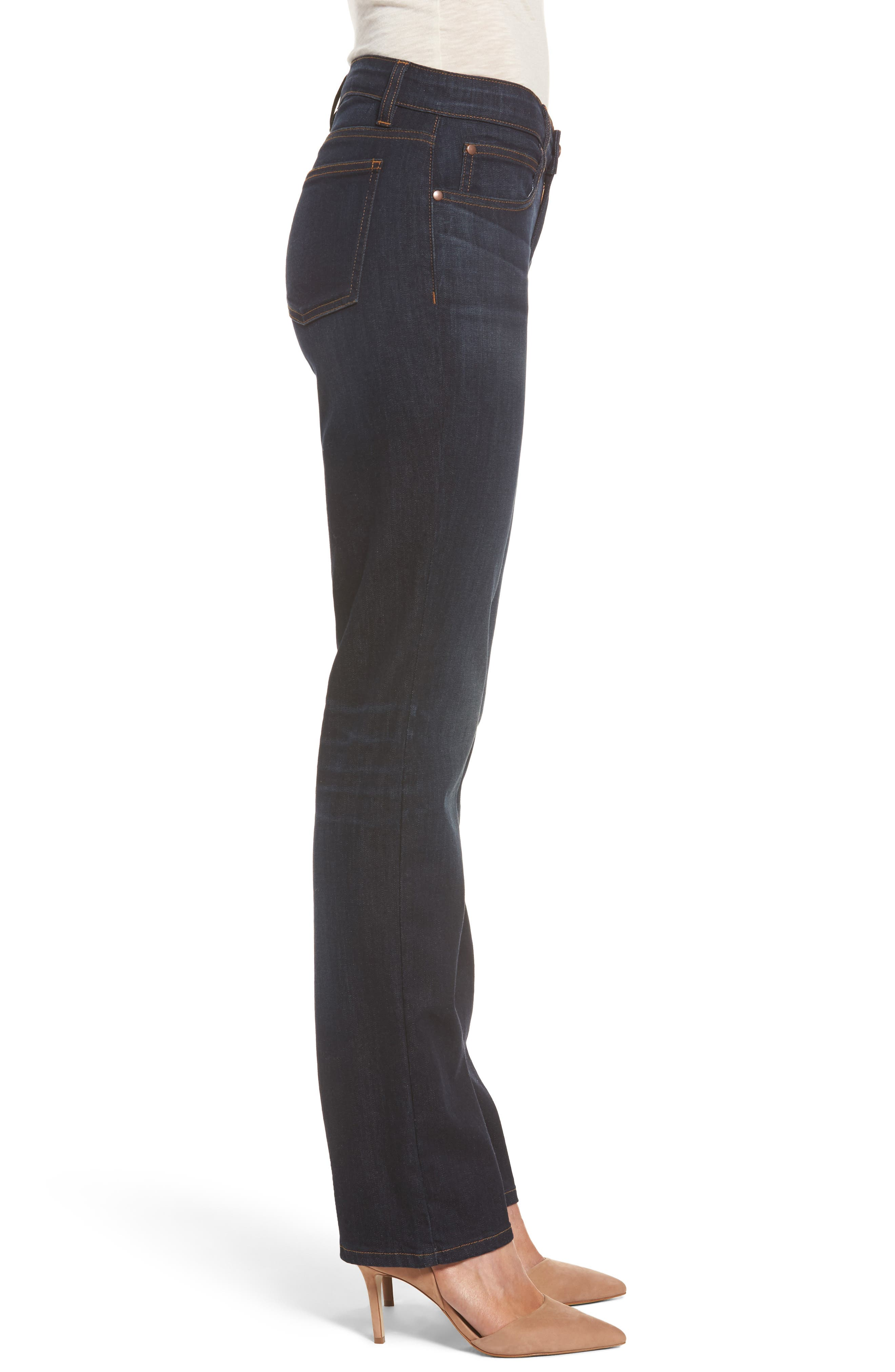 Alternate Image 3  - Eileen Fisher Straight Leg Stretch Jeans (Regular & Petite)