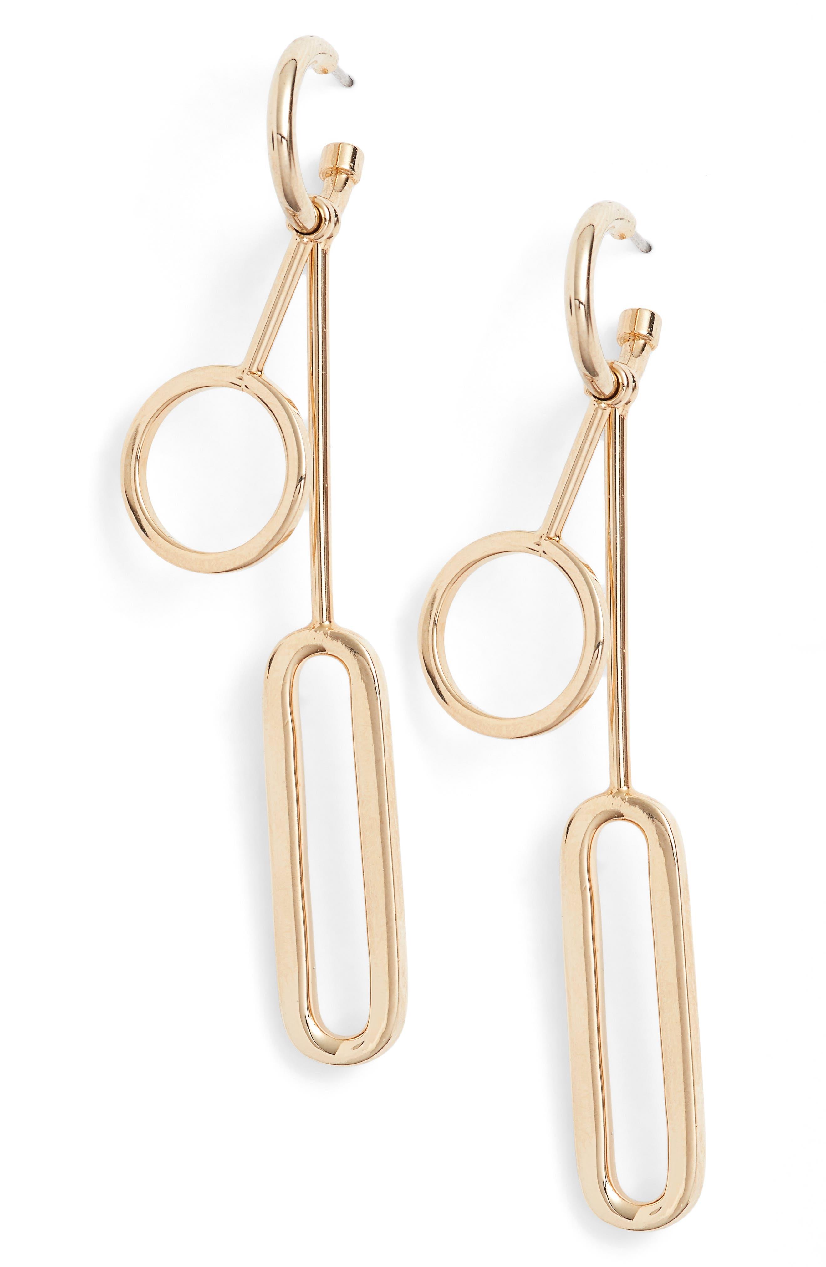 Halogen® Geo Linear Drop Earrings