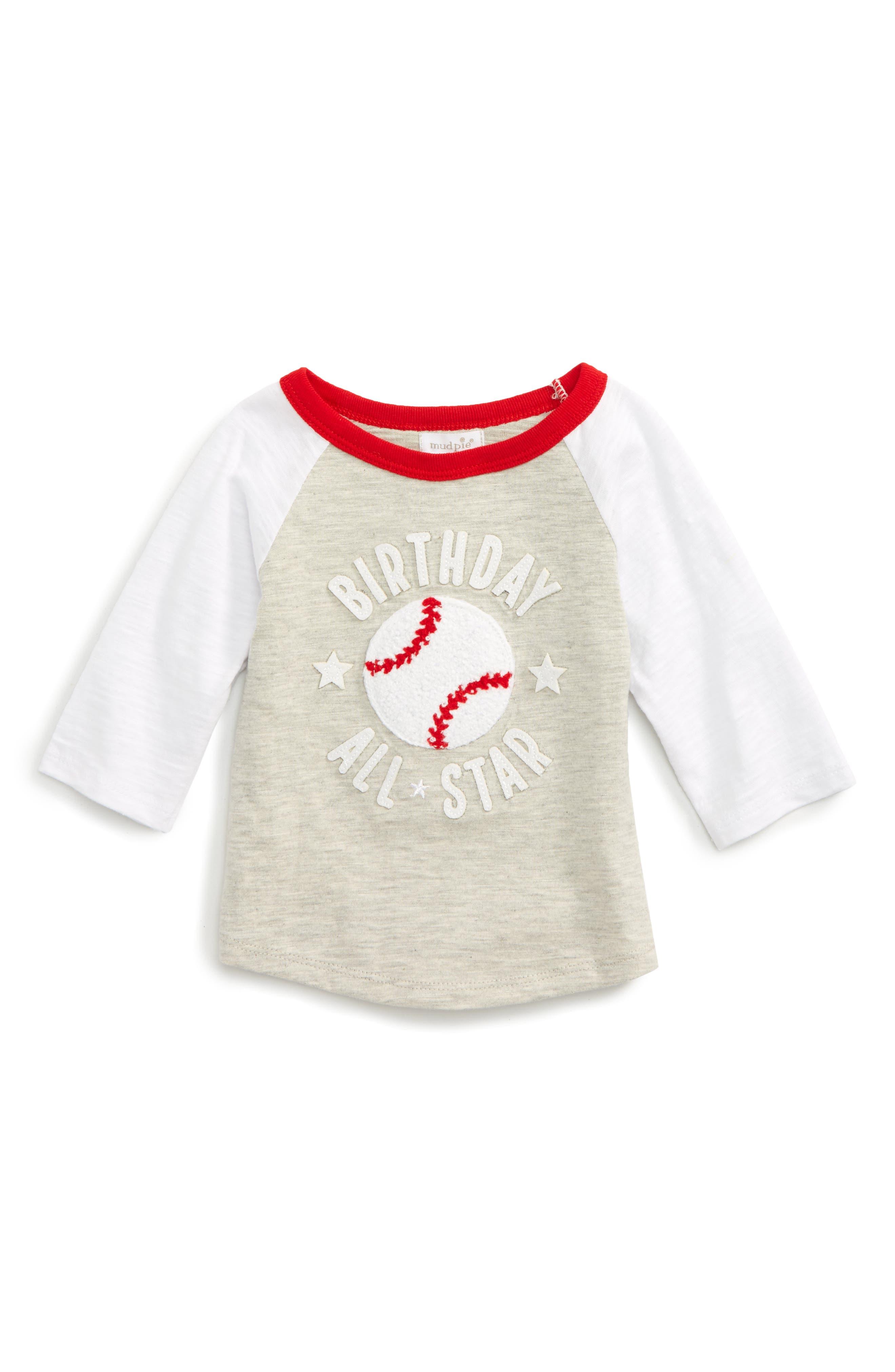 Mud Pie Birthday All Star T-Shirt (Baby)