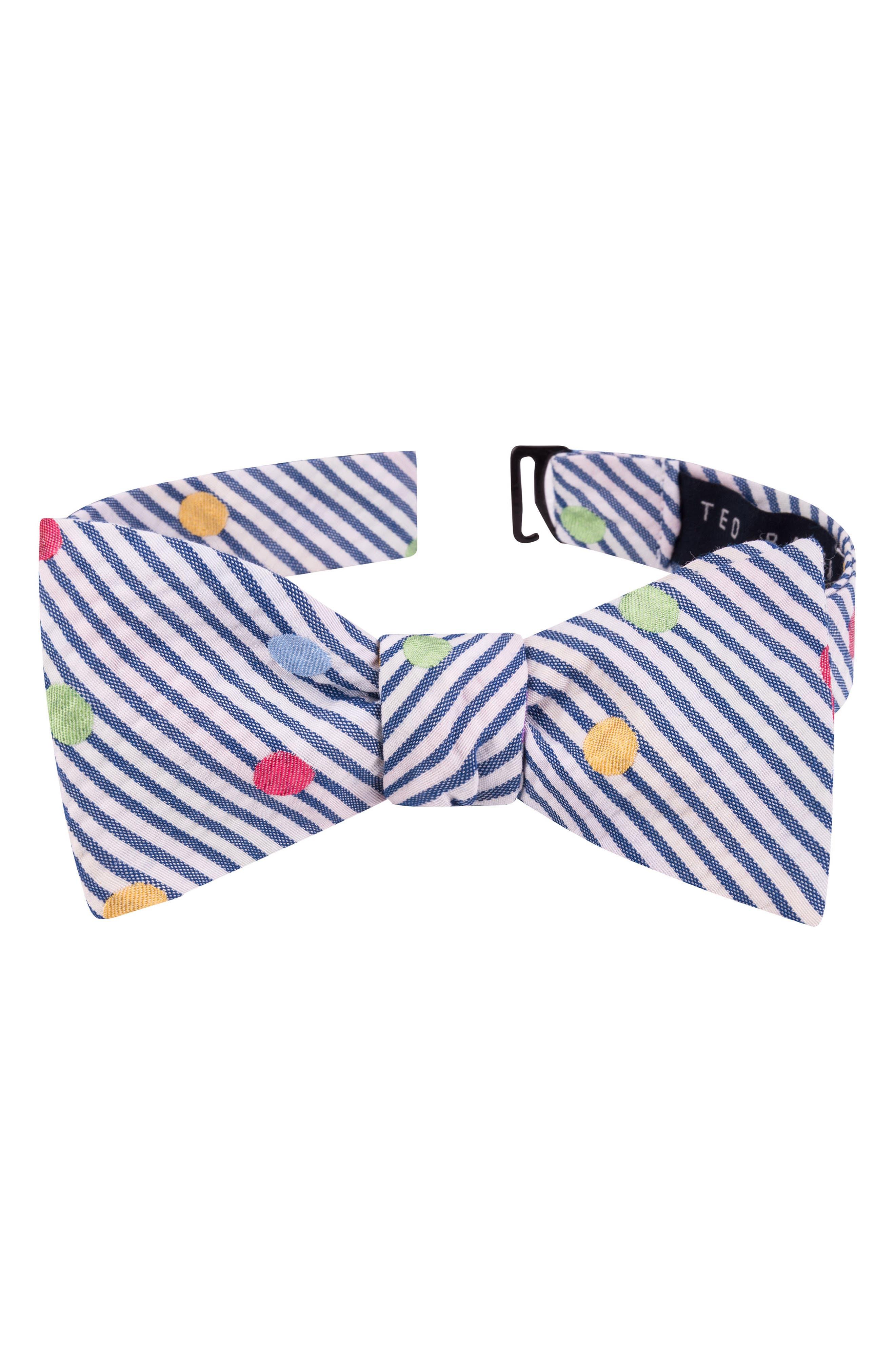 Ted Baker London Fun Stripe Silk & Cotton Tie