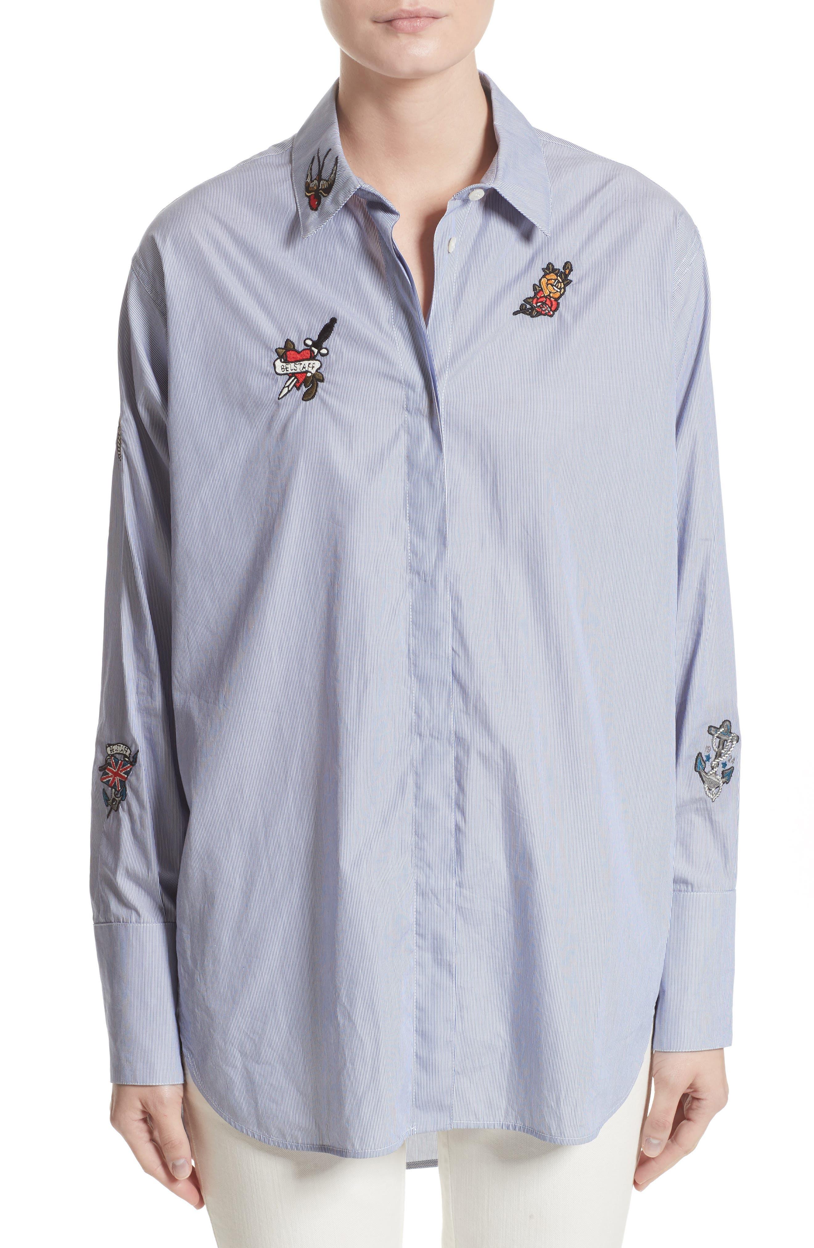 Belstaff Shauna Appliqué Cotton Shirt